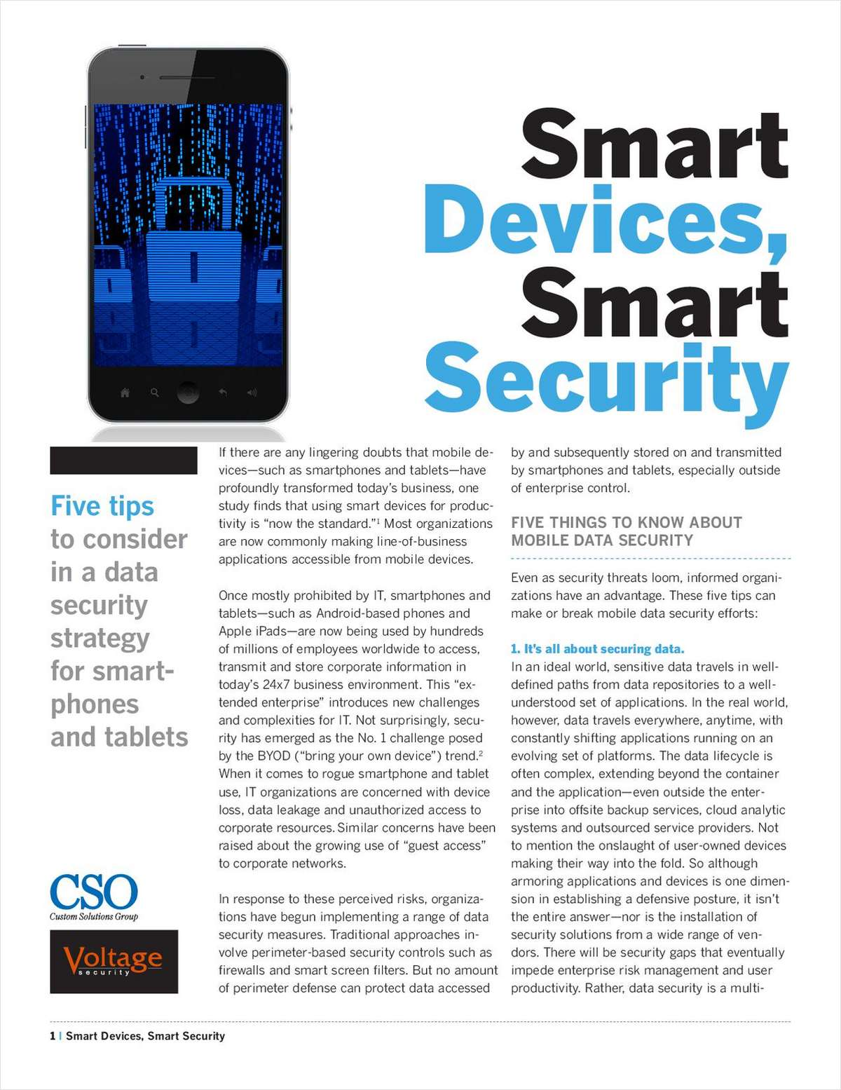 For Data Security Professionals  - Smart Devices, Smart Security