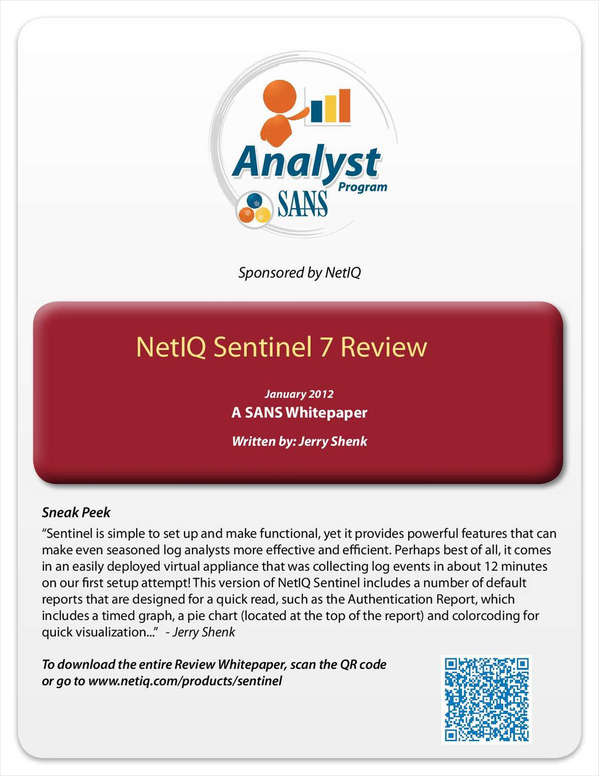 SANS Review of NetIQ Sentinel 7