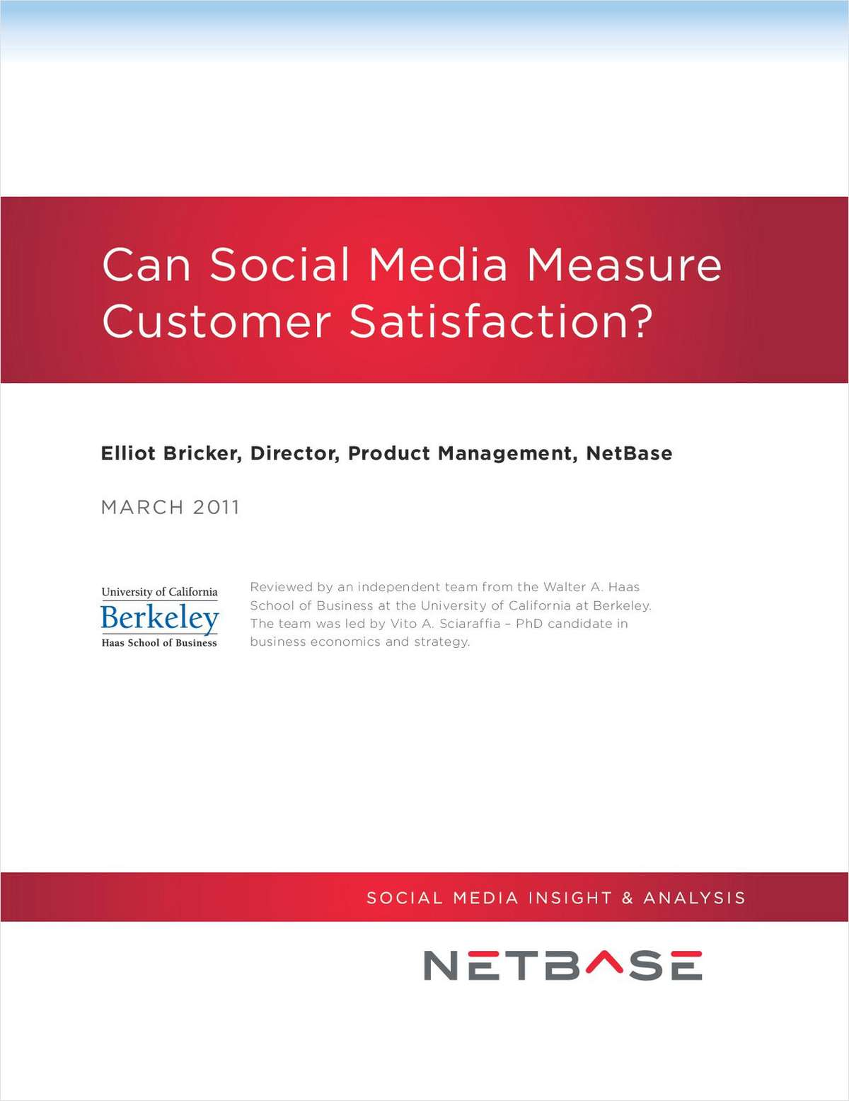 Can Social Media Measure Customer Satisfaction?