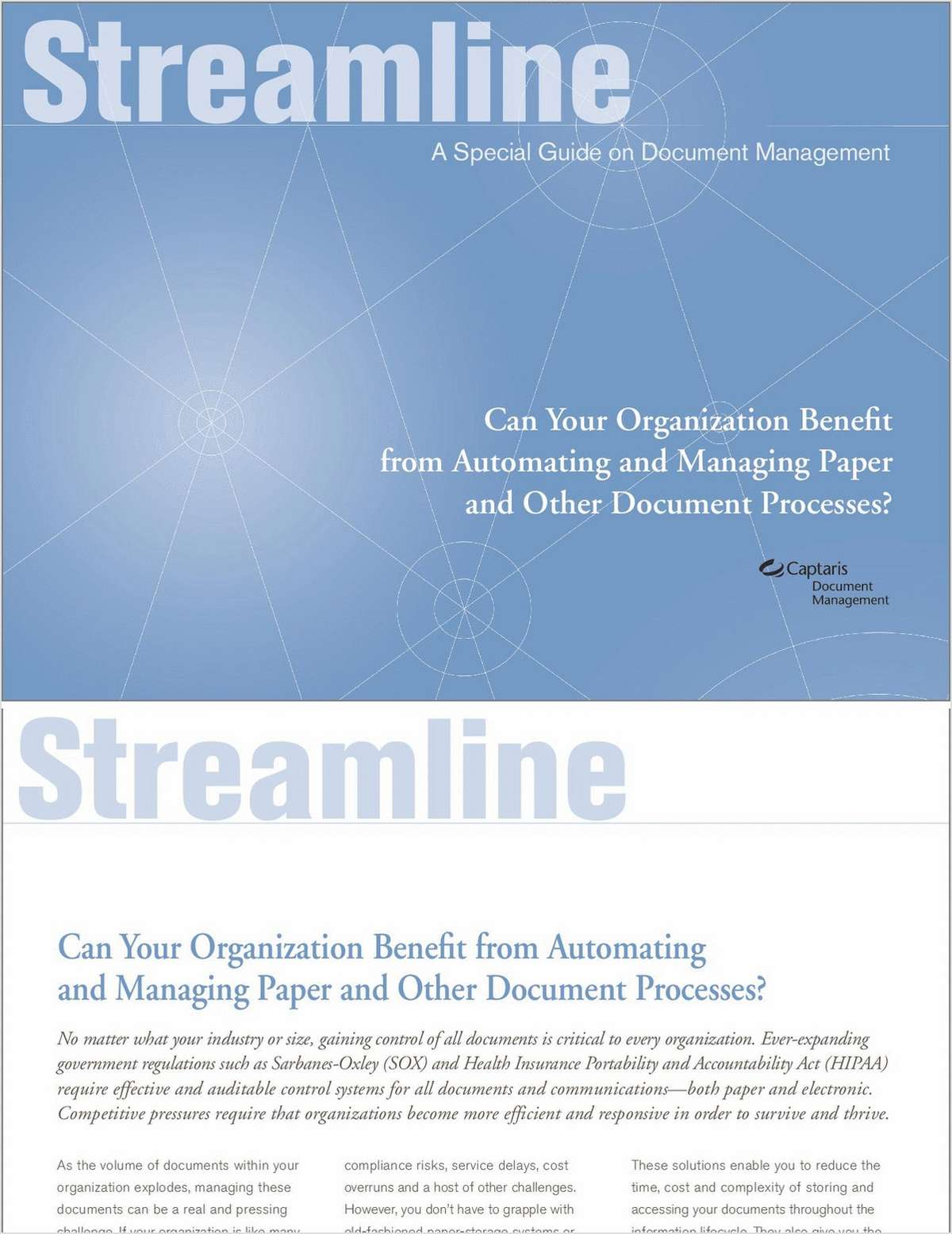 Automating Paper and Other Document Processes: Solutions and Benefits