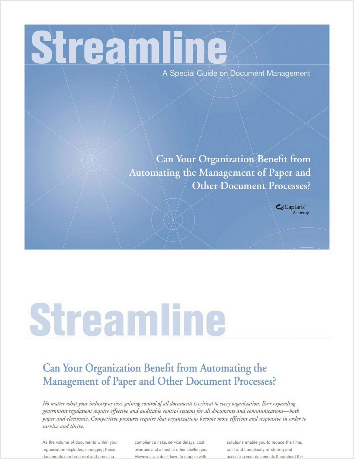 The Streamline Guide to Document Management