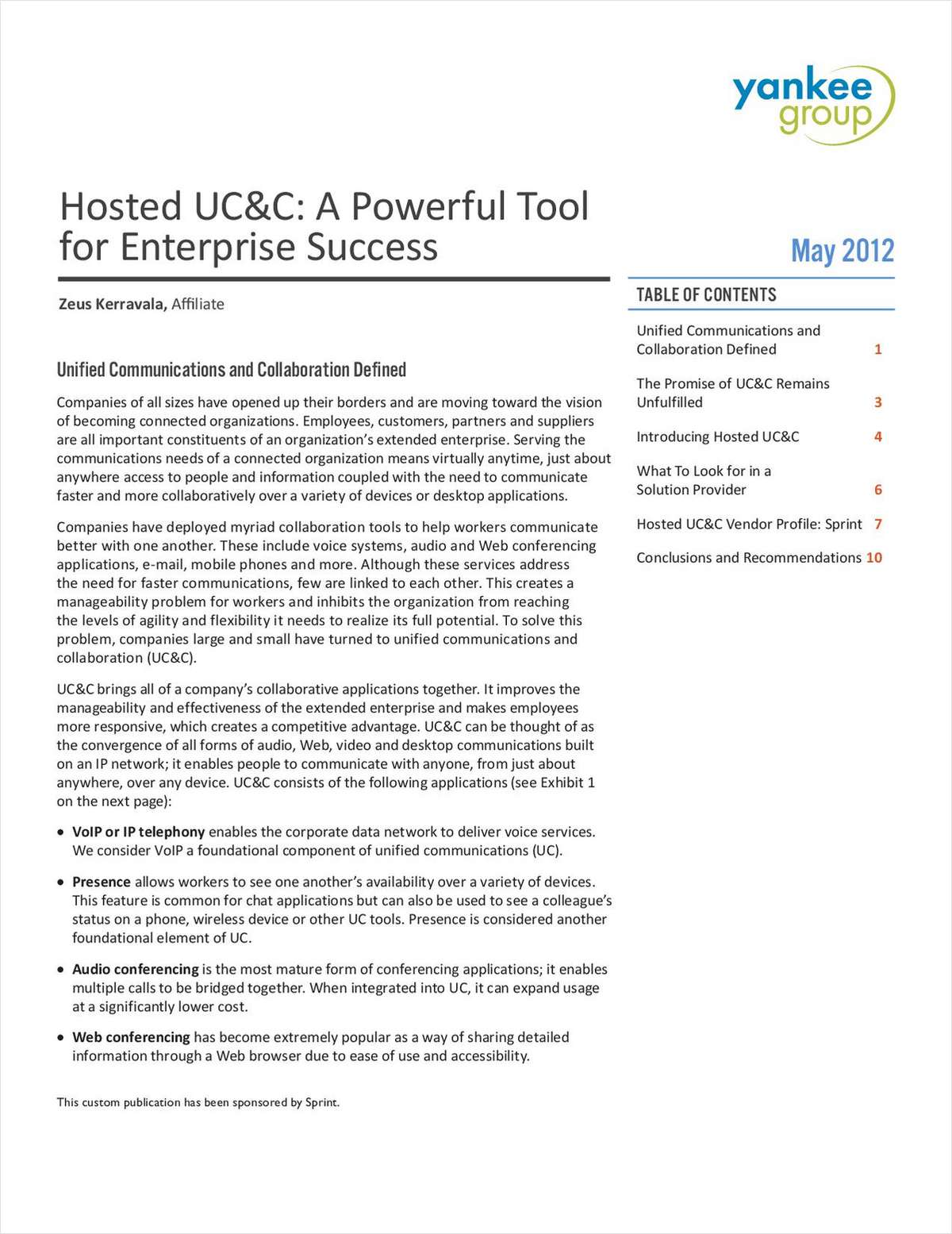 Hosted UC&C: A Powerful Tool for Enterprise Success