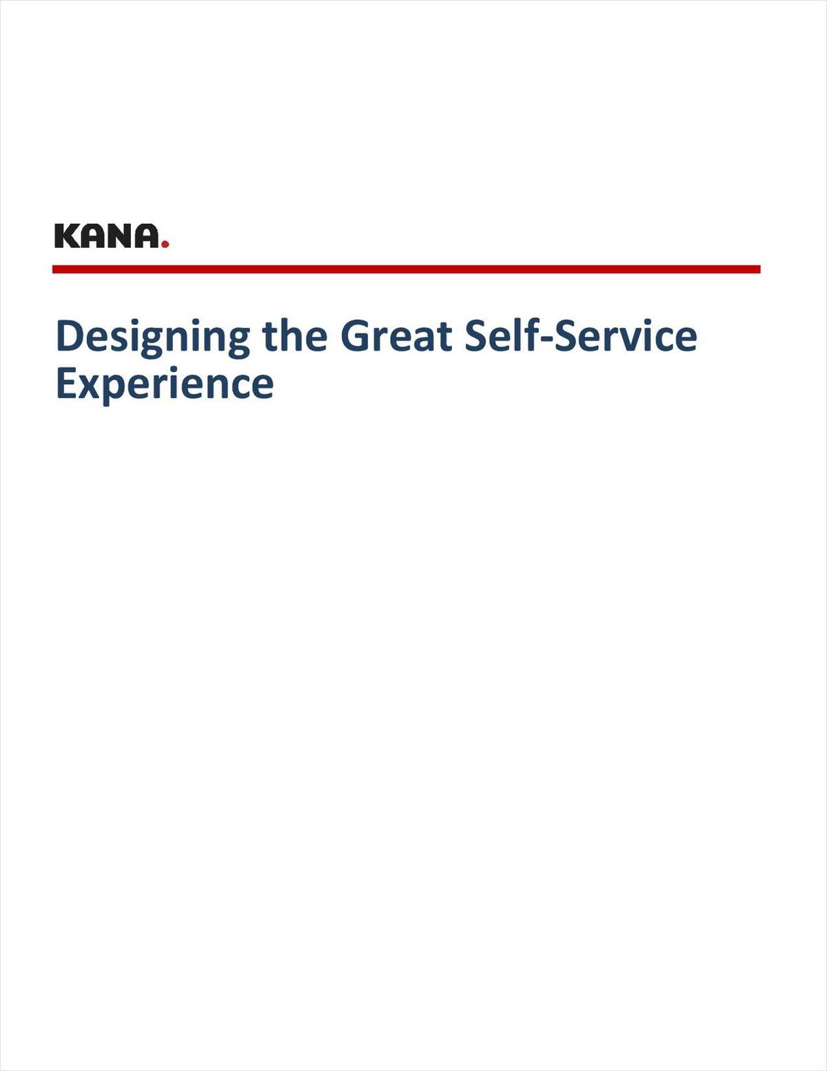 Designing the Great Web Self-Service Experience