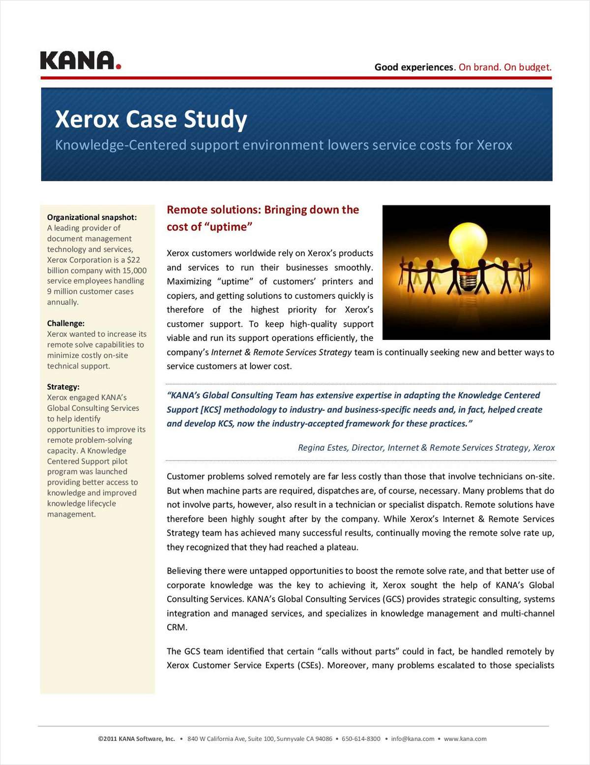 Xerox Knowledge Management
