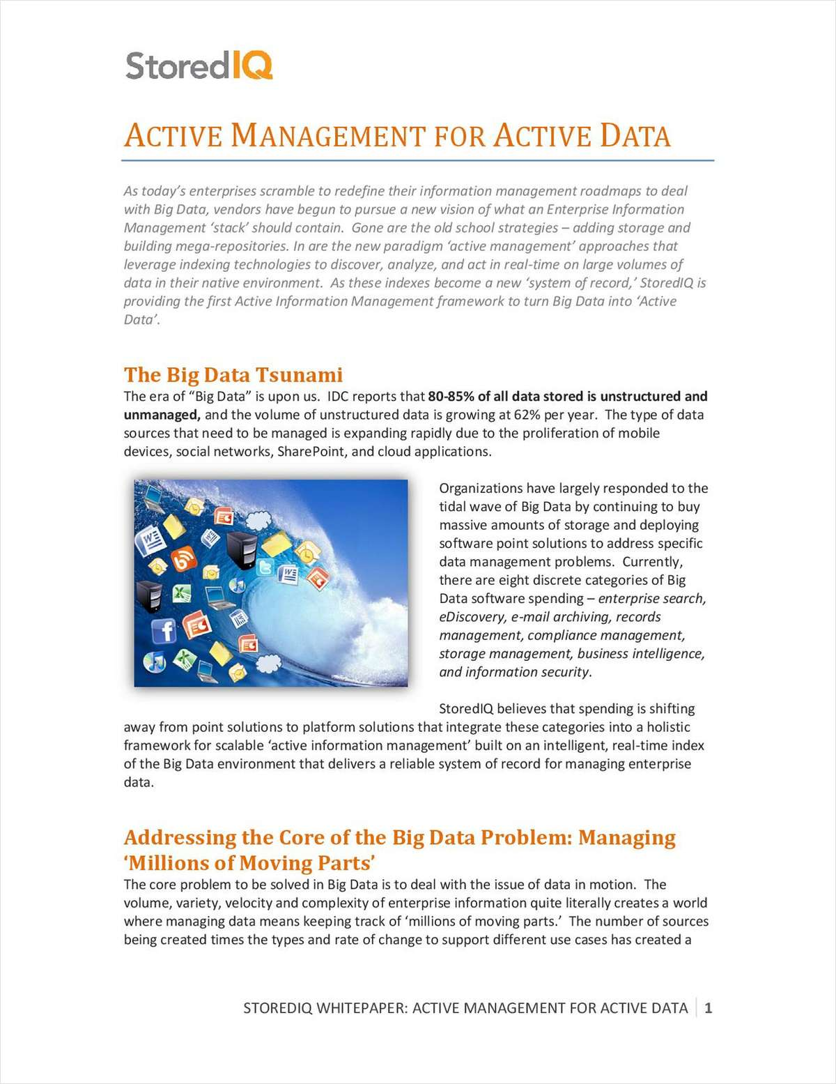 Active Management for Active Data