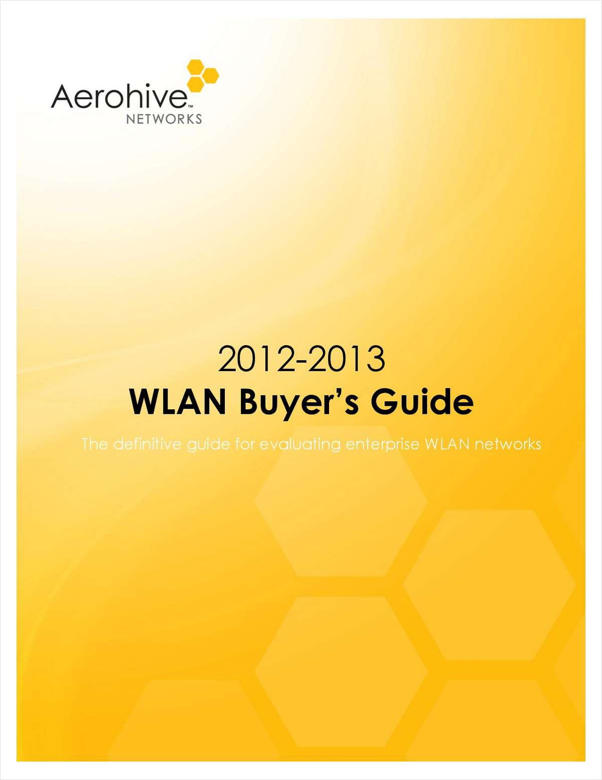 2012-2013 WLAN Buyer's Guide