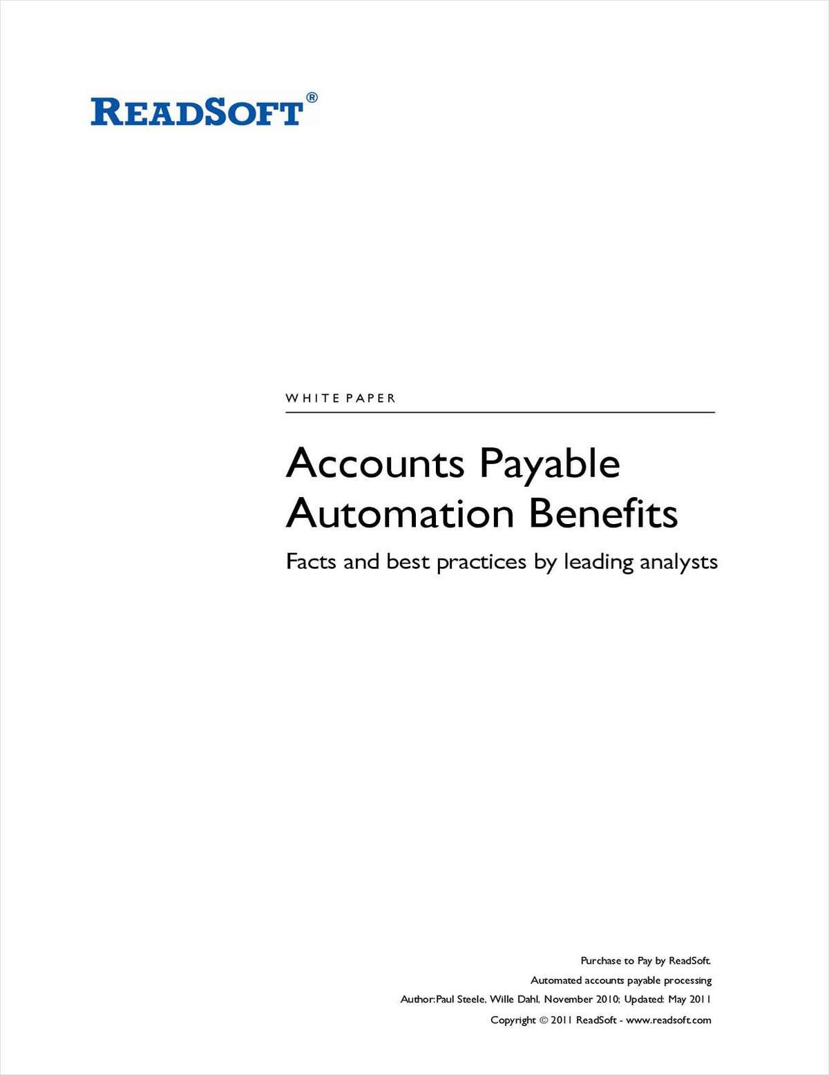 Accounts Payable Automation Benefits