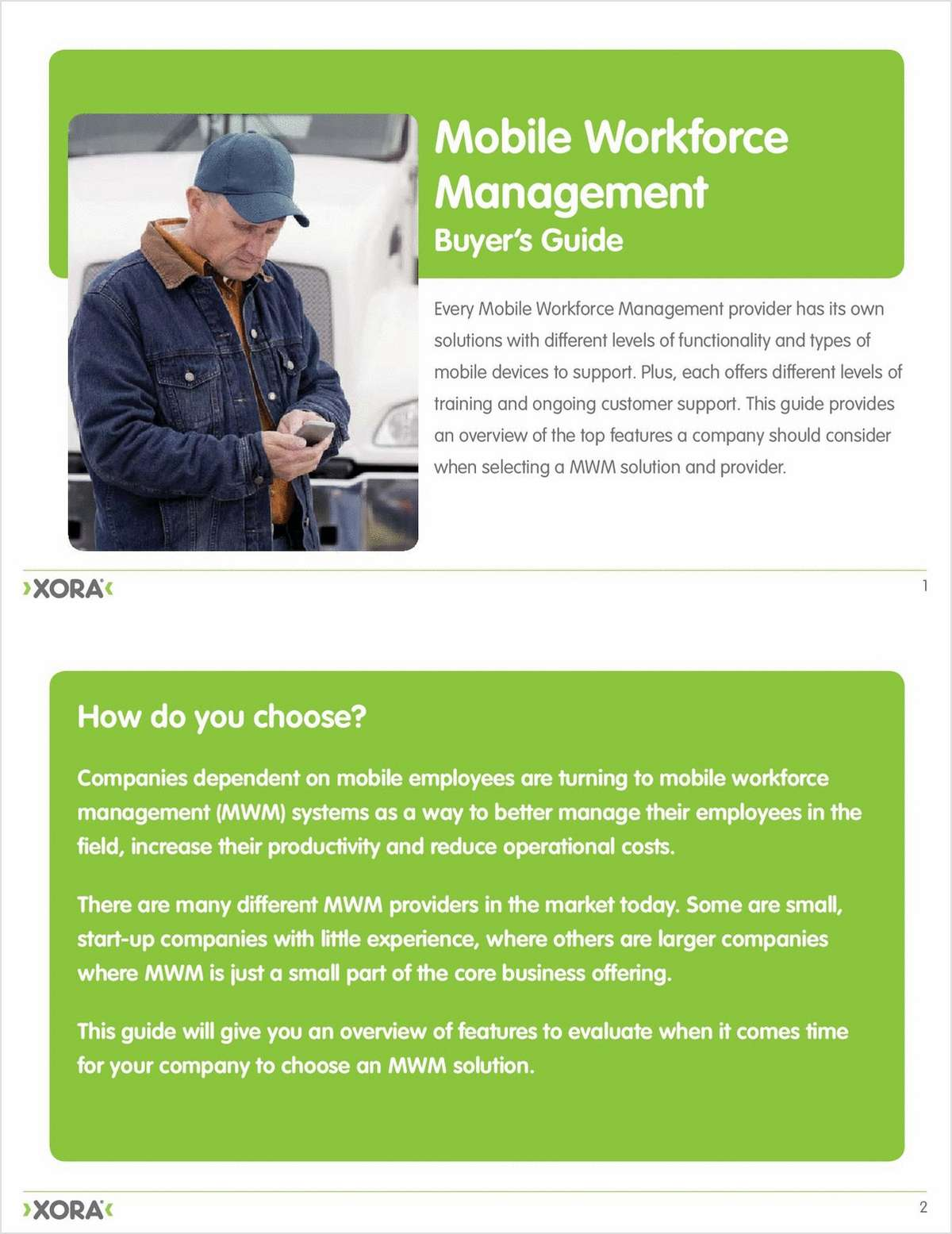 Buyer's Guide: Mobile Workforce Management Solutions