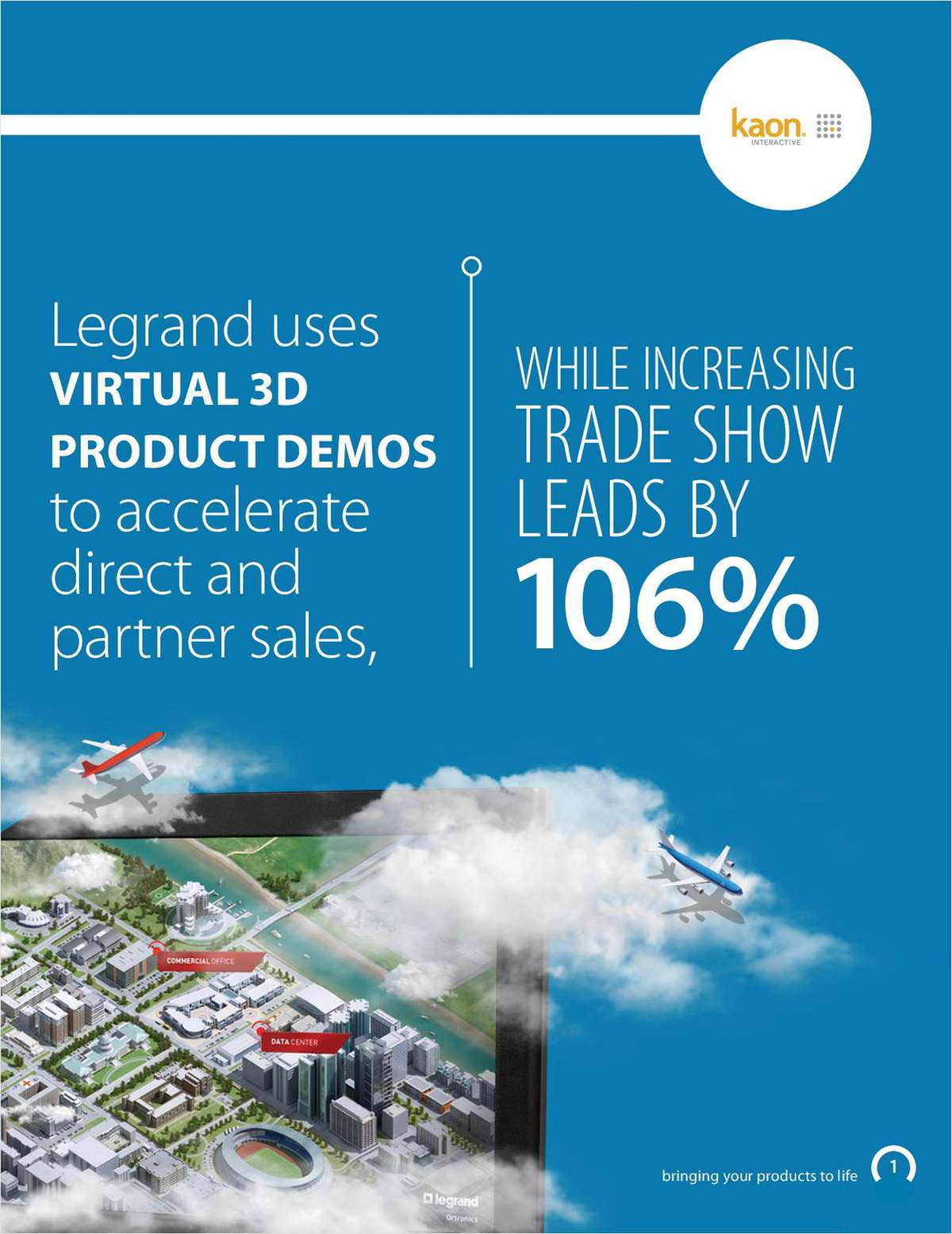 Legrand Uses Virtual 3D Product Demos to Accelerate Sales, Increasing TRADESHOW LEADS by 106%