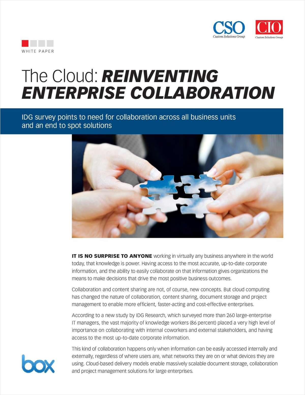 The Cloud: Reinventing Enterprise Collaboration
