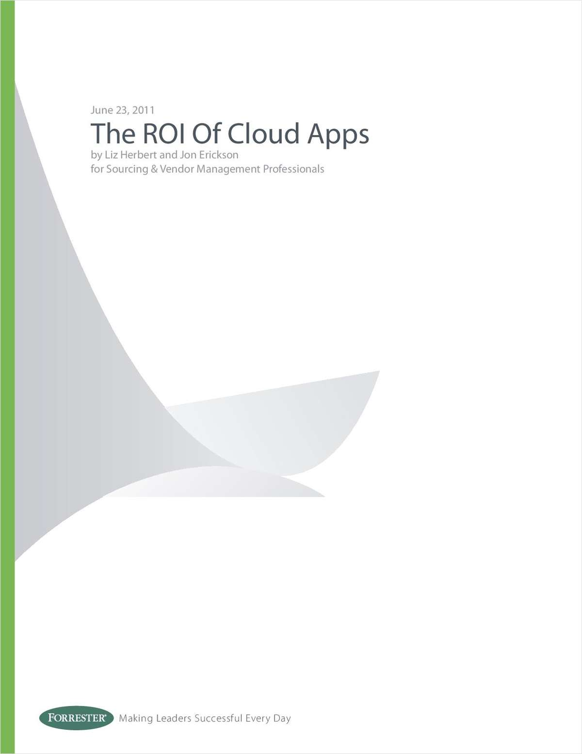 The ROI of Cloud Apps