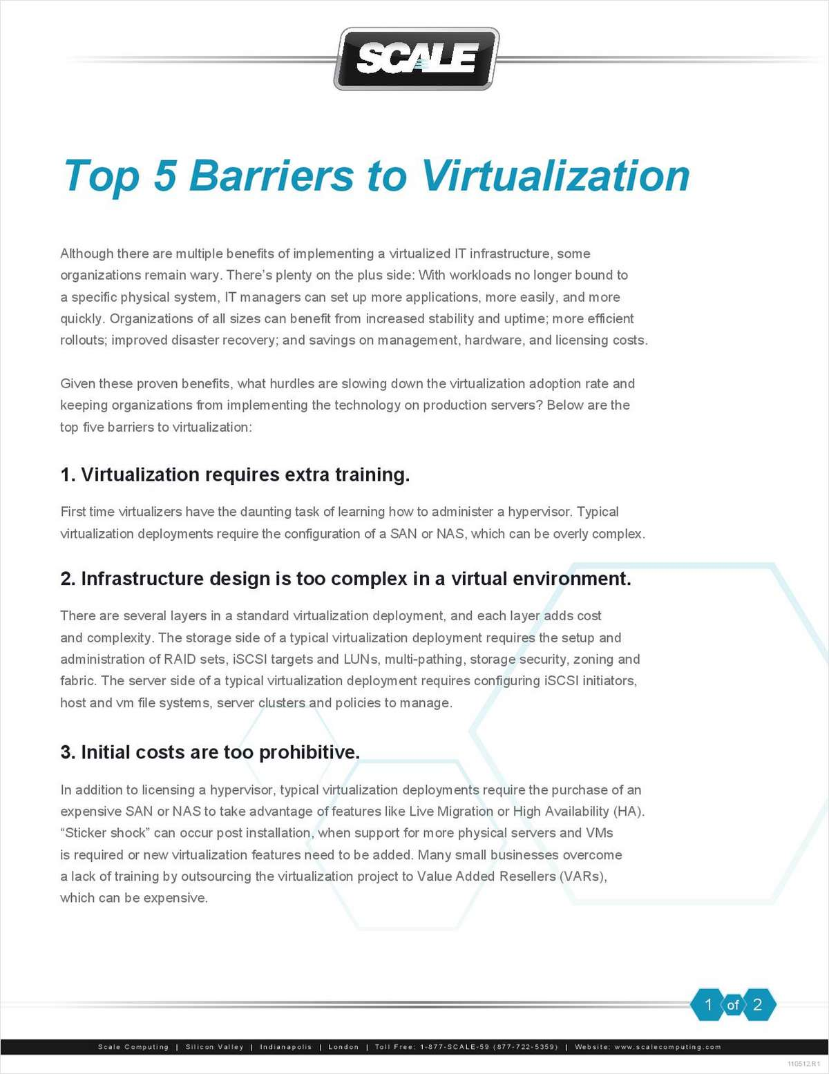 The Top 5 Barriers to Virtualization