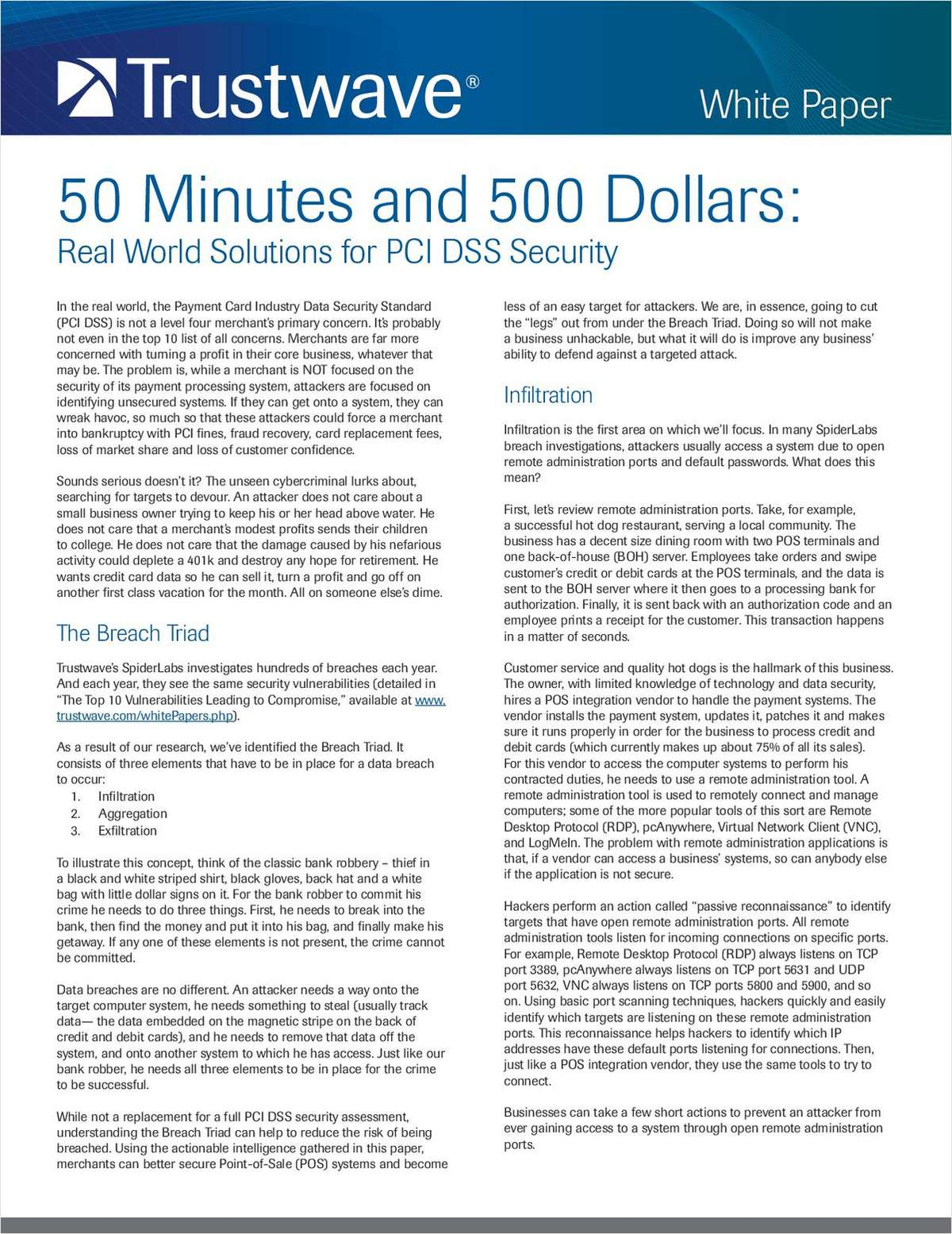 50 Minutes and 500 Dollars: Real World Solutions for PCI DSS