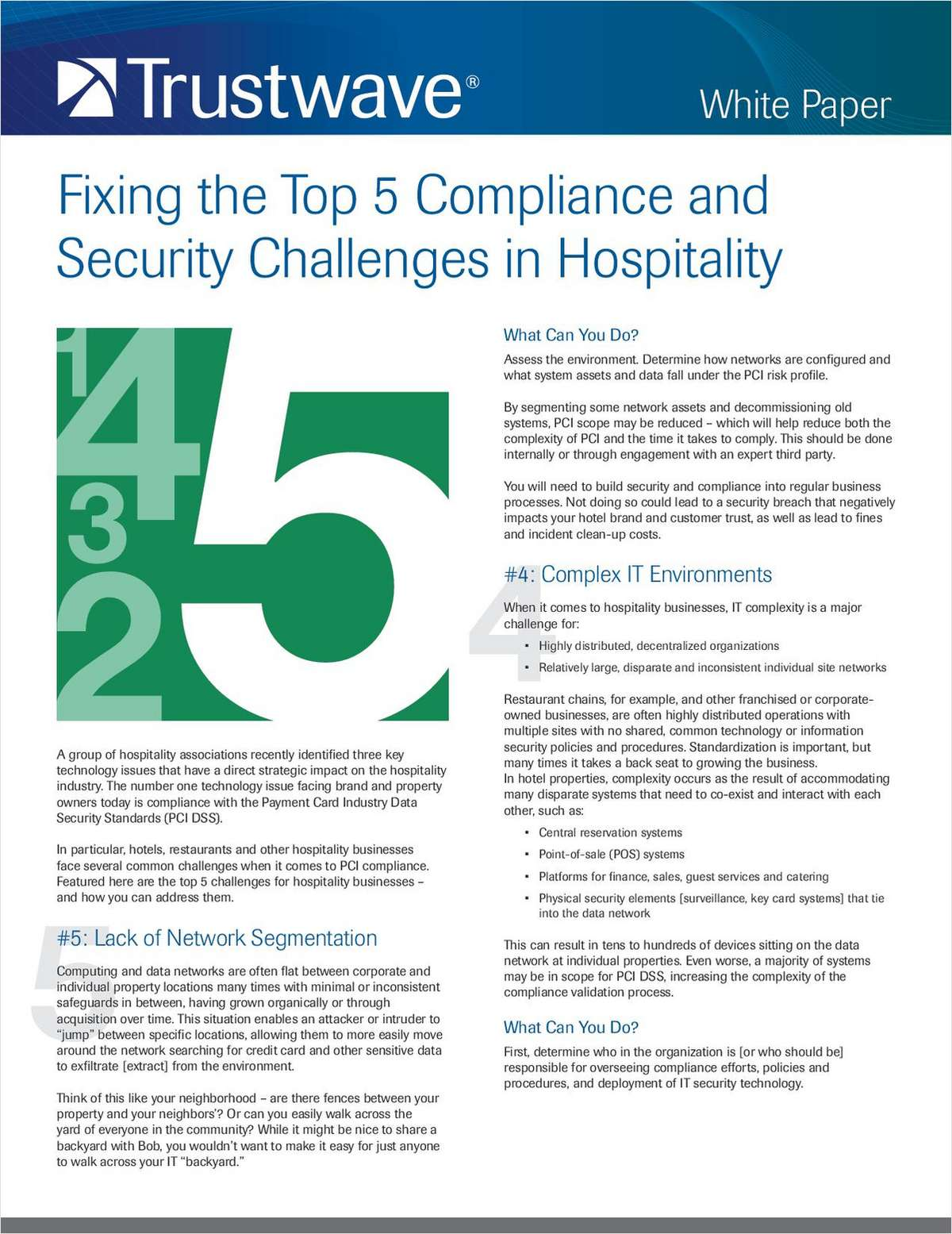Fixing the Top 5 Compliance and Security Challenges in Hospitality