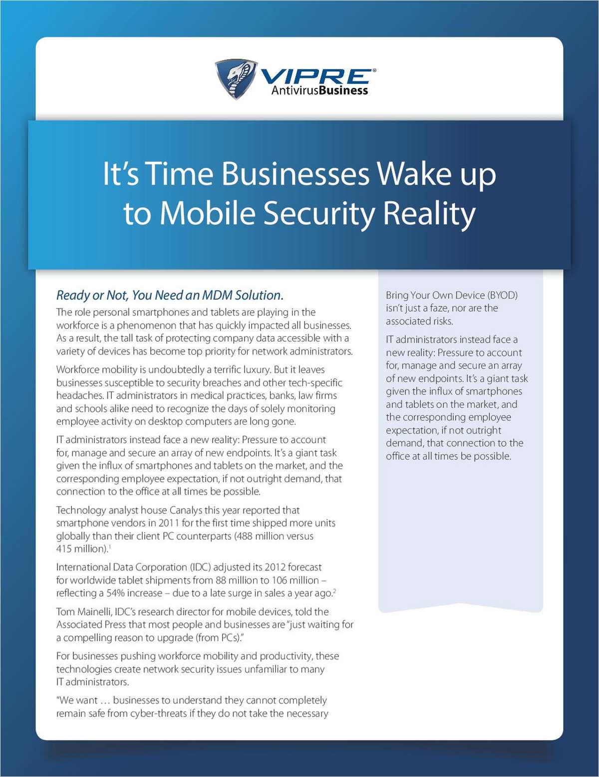 It's Time Businesses Wake Up to Mobile Security Reality