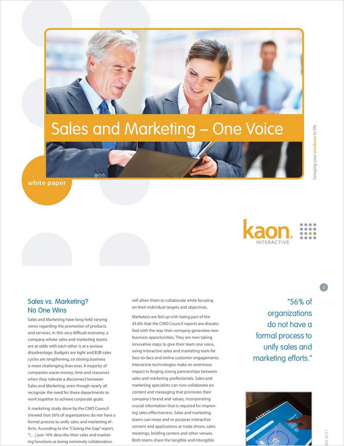 Sales & Marketing - One Voice