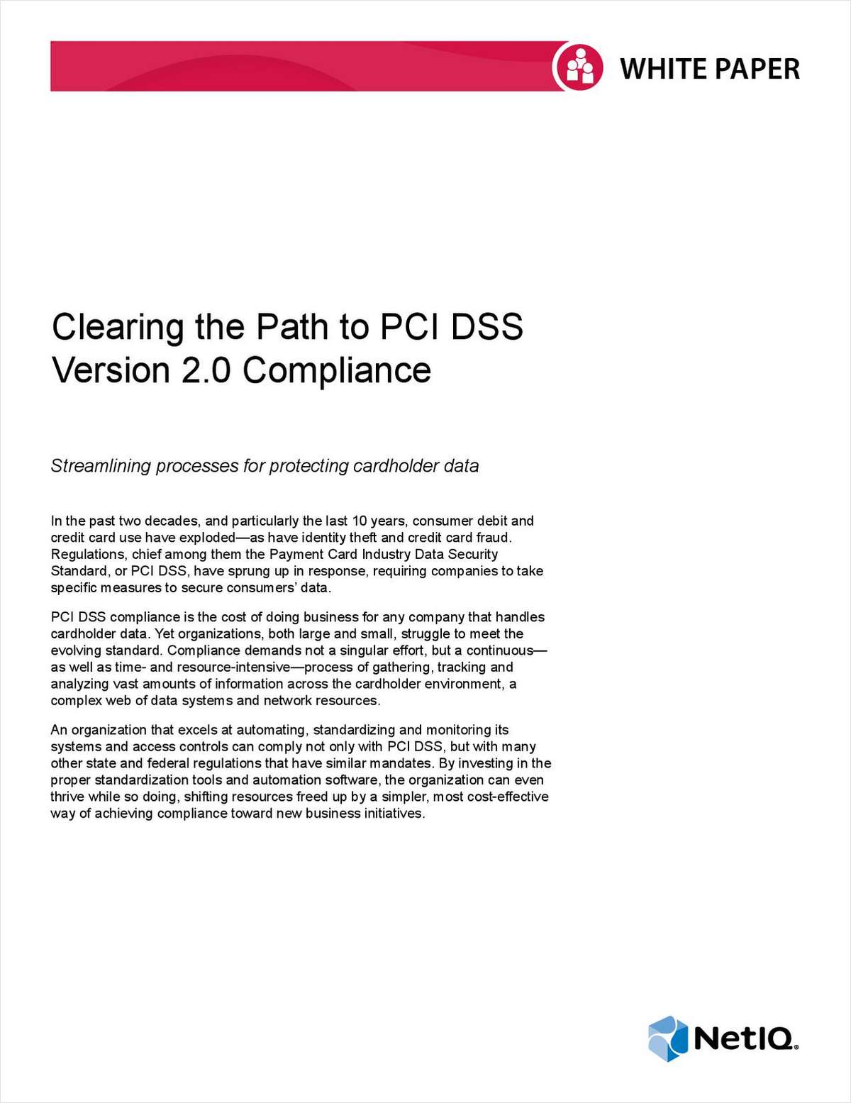 Clearing the Path to PCI DSS Version 2.0 Compliance