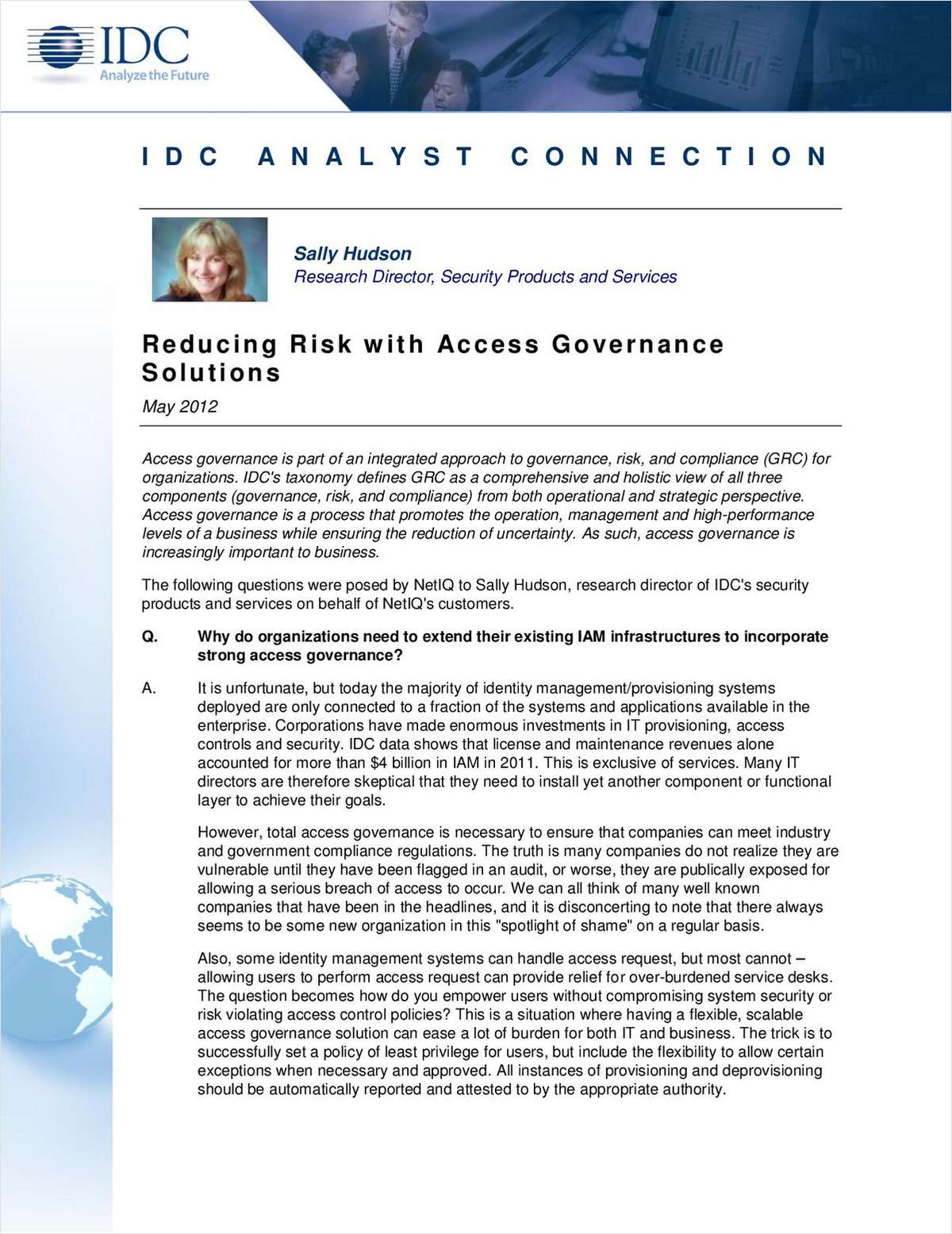 Reducing Risk with Access Governance Solutions
