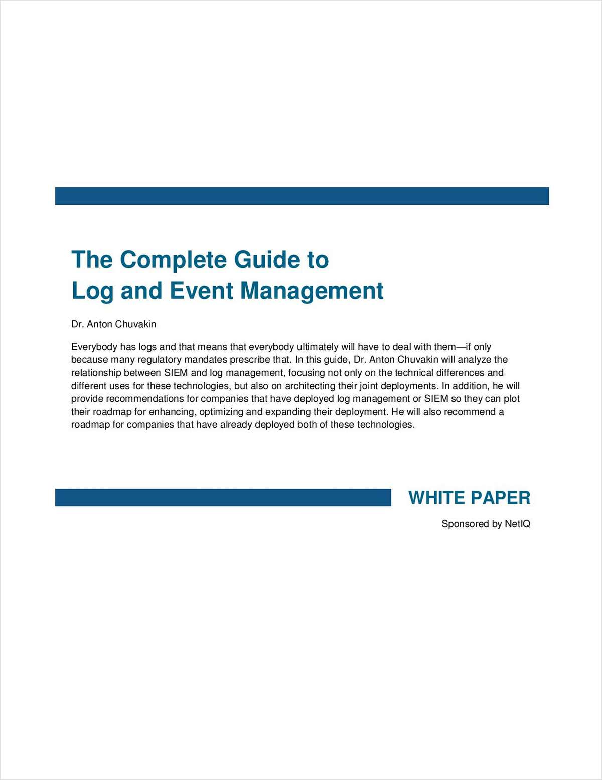 The Complete Guide to Log and Event Management