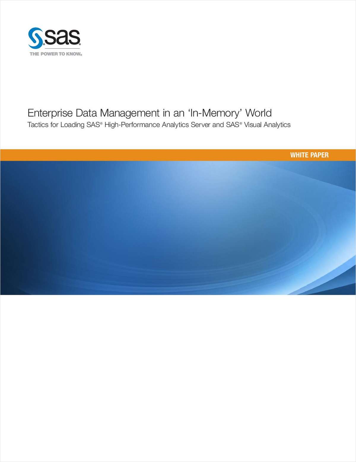 Enterprise Data Management in an 'In-Memory' World