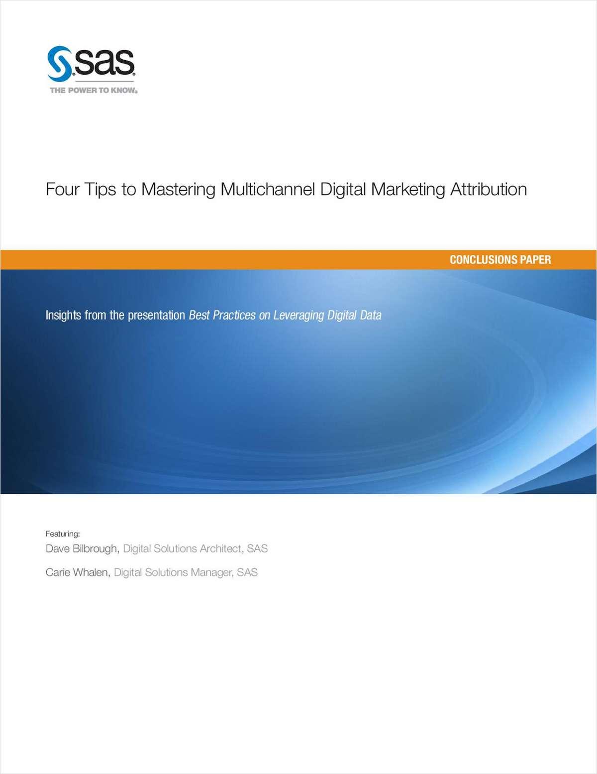 Four Tips to Mastering Multichannel Digital Marketing Attribution