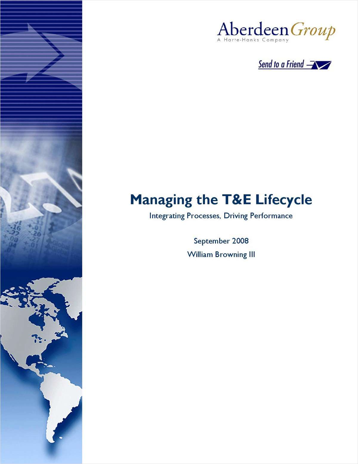 Managing the T&E Lifecycle: Integrating Processes, Driving Performance