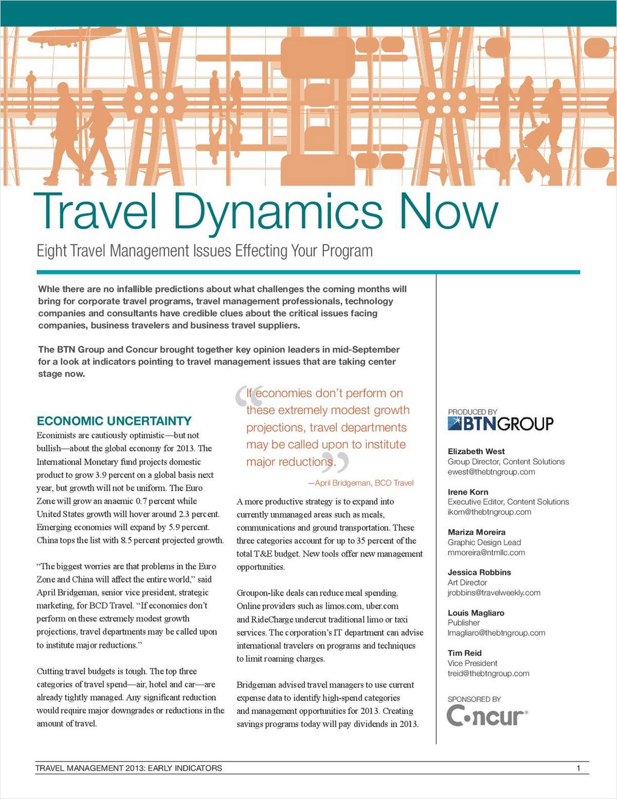 Travel Dynamics Now - Eight Travel Management Issues Effecting Your Program