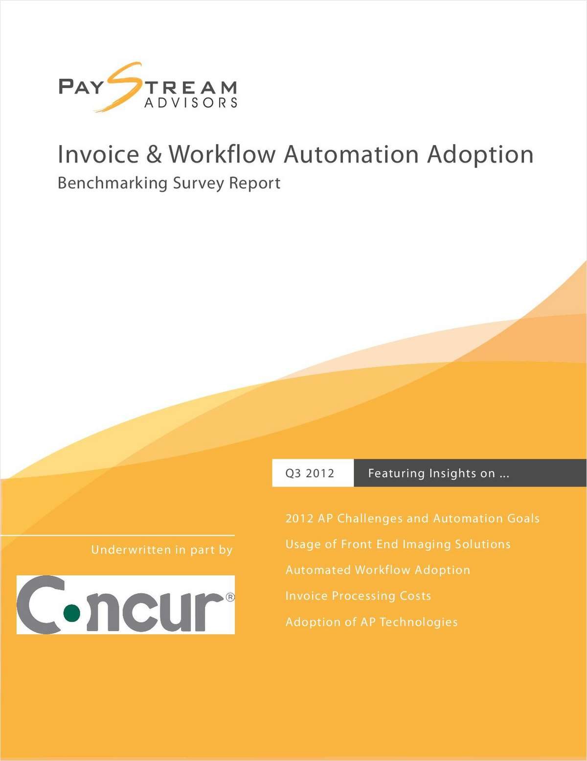 Invoice and Workflow Automation Adoption Benchmarking Survey Report