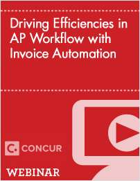 Driving Efficiencies in AP Workflow with Invoice Automation