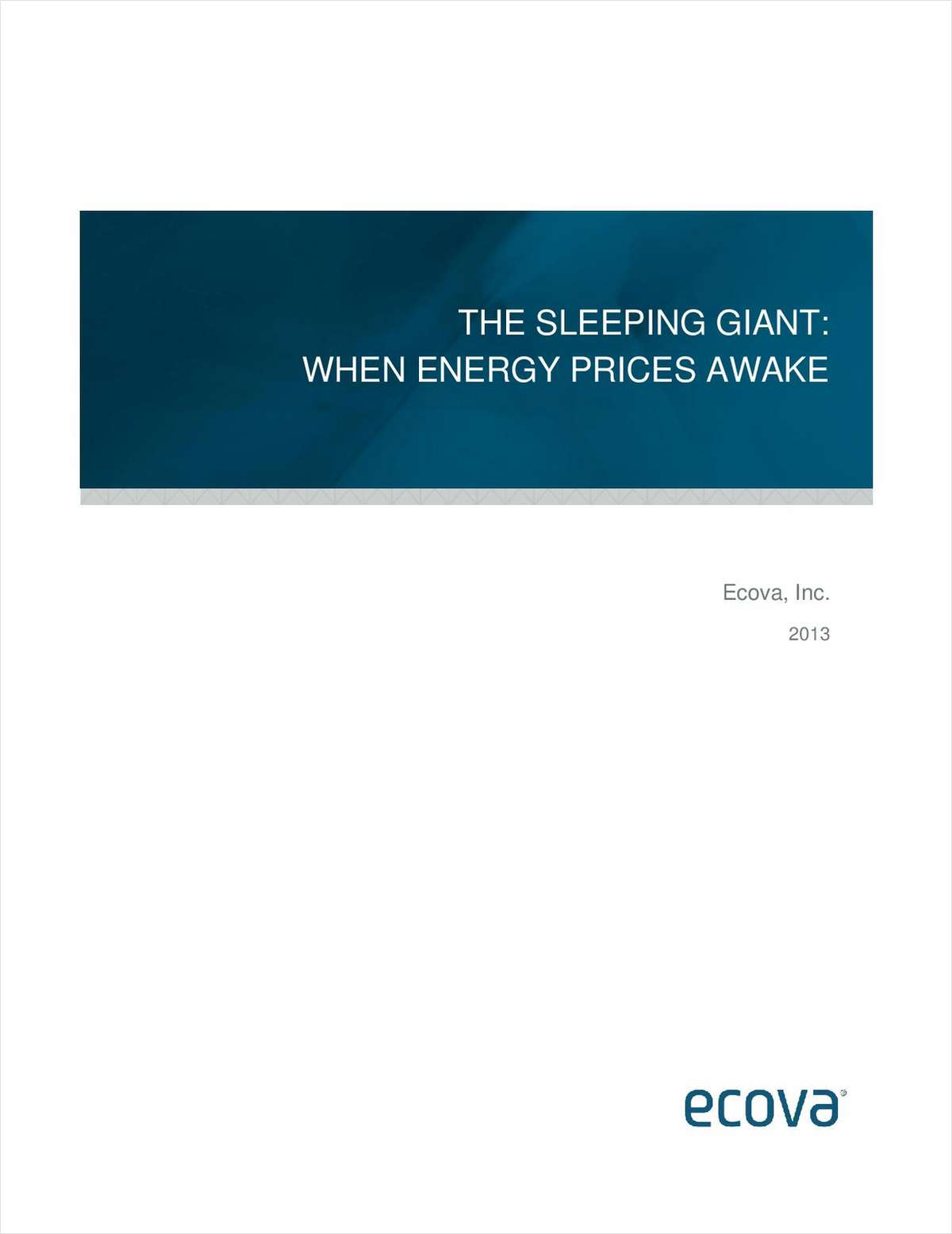 The Sleeping Giant – When Energy Prices Awake