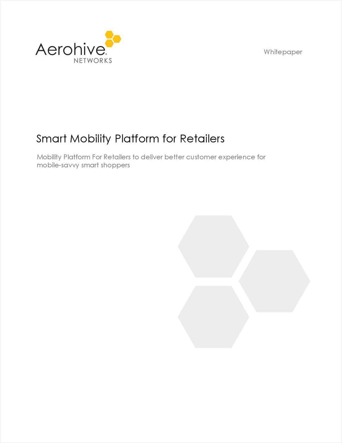 Smart Mobility Platform for Retailers