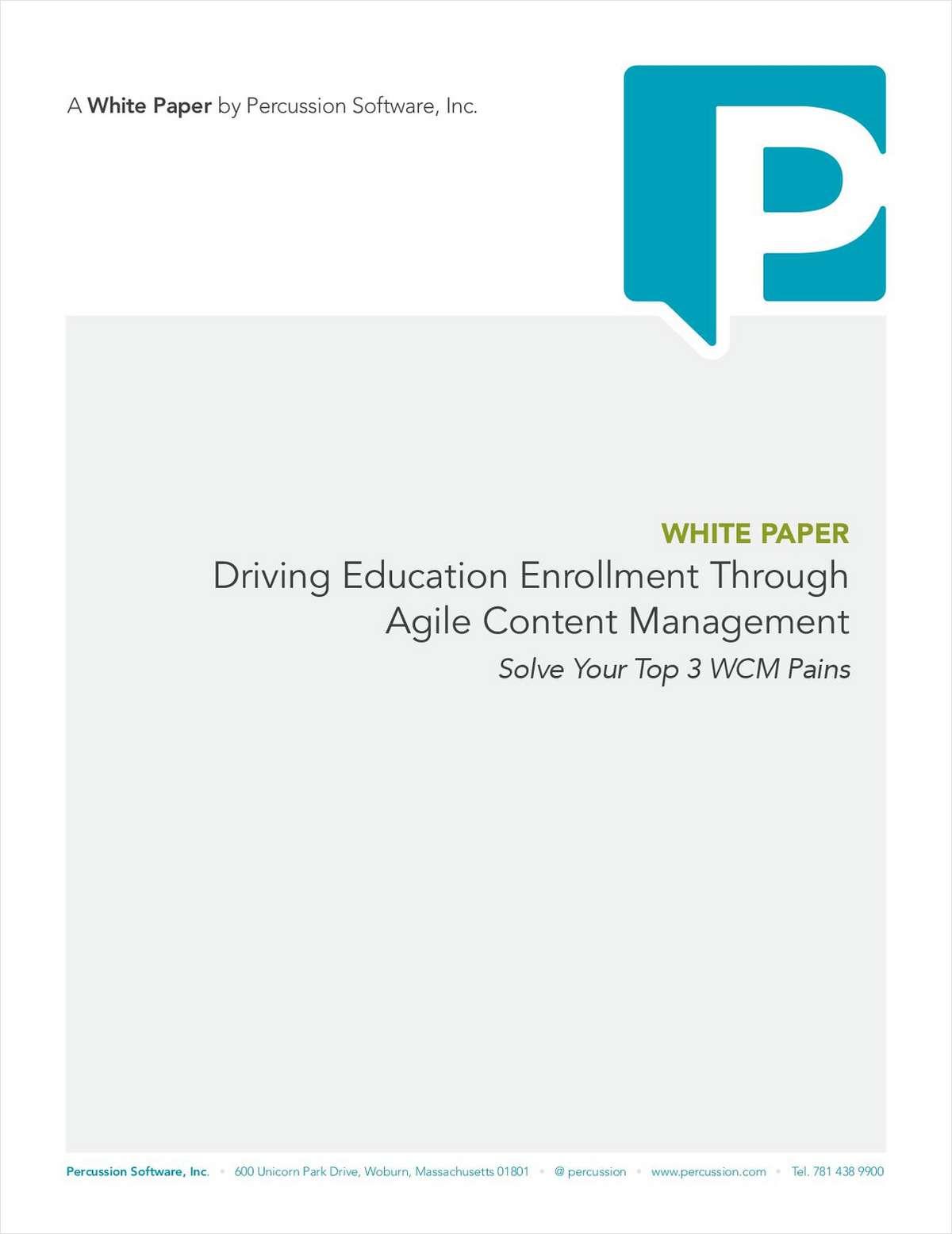 Driving Education Enrollment through Agile Content Management