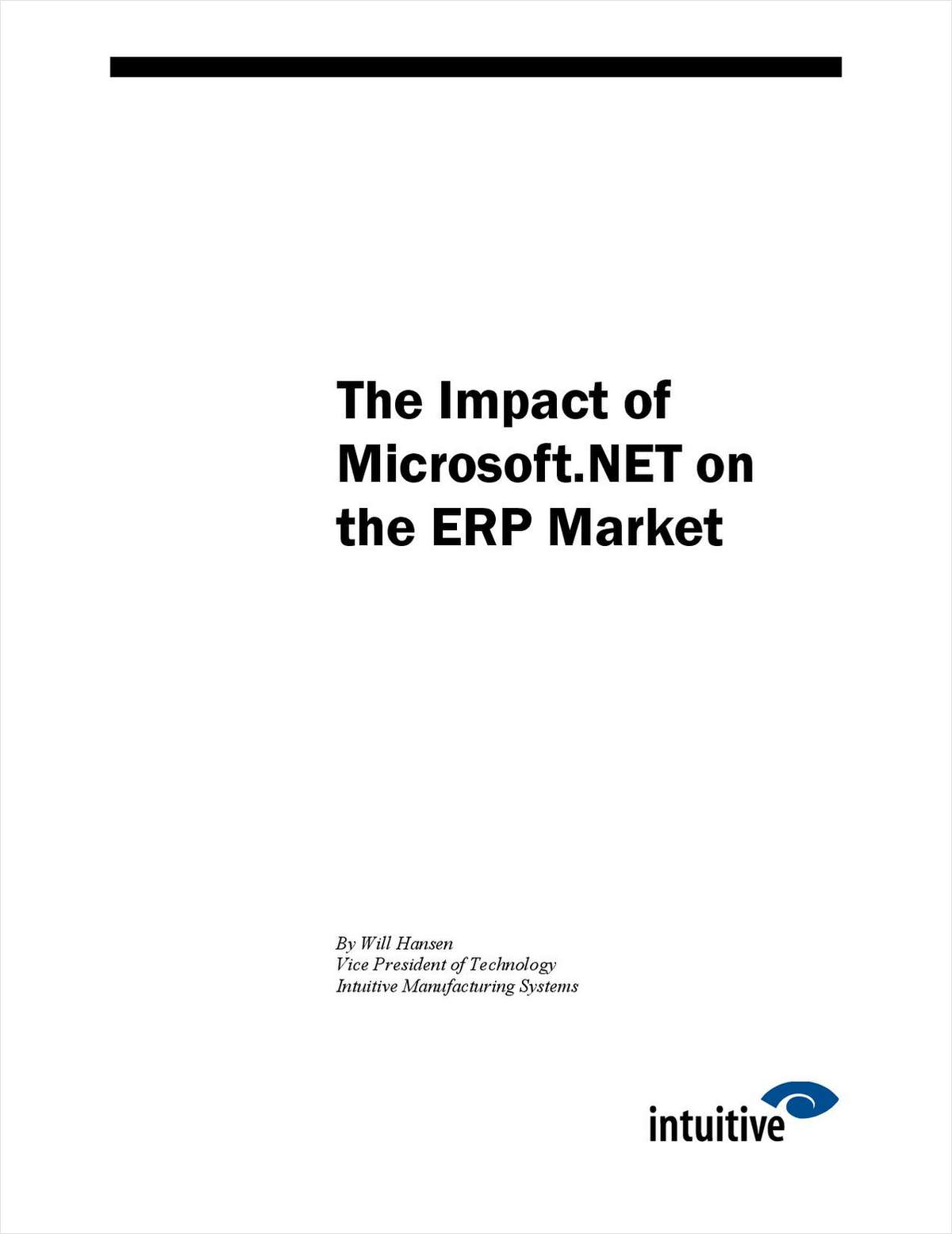 The Impact of Microsoft.NET on the ERP Market