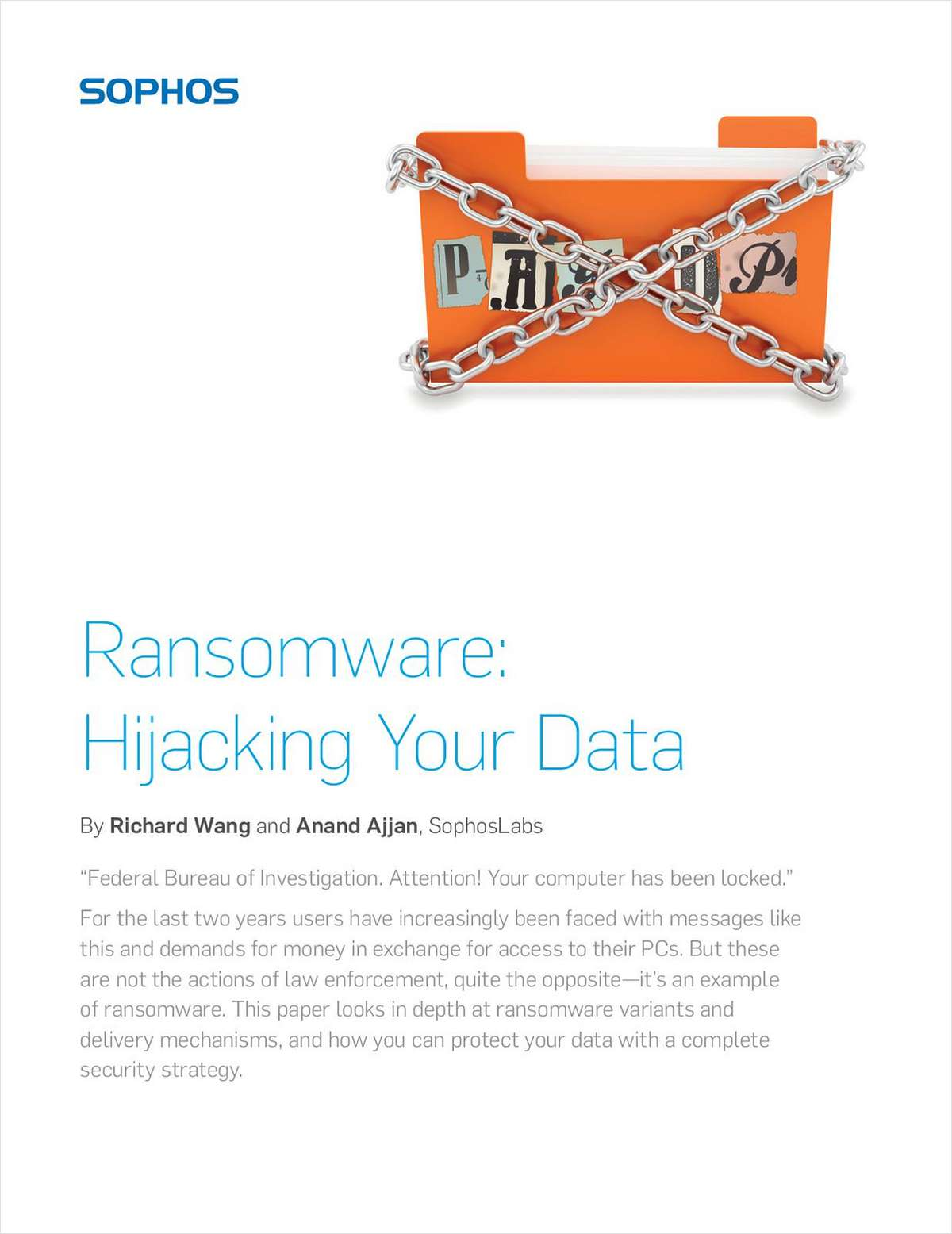 Ransomware: Hijacking Your Data