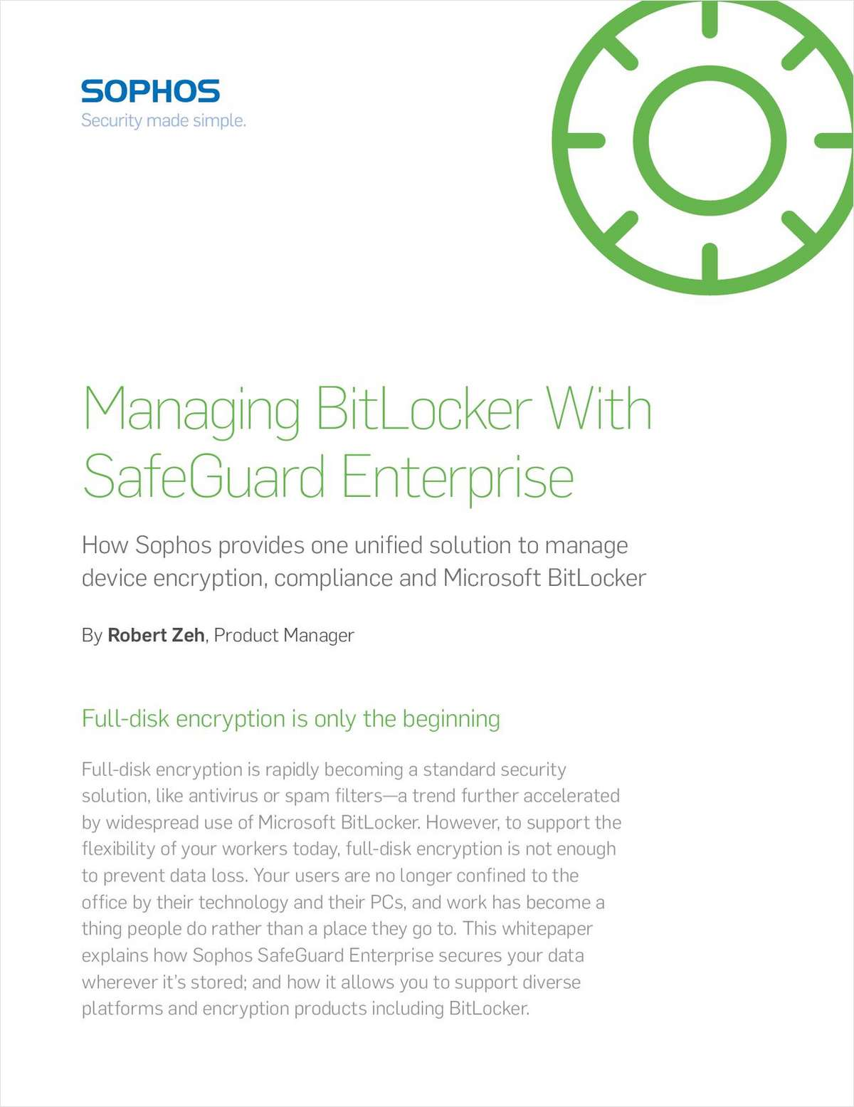 Managing BitLocker with SafeGuard Enterprise