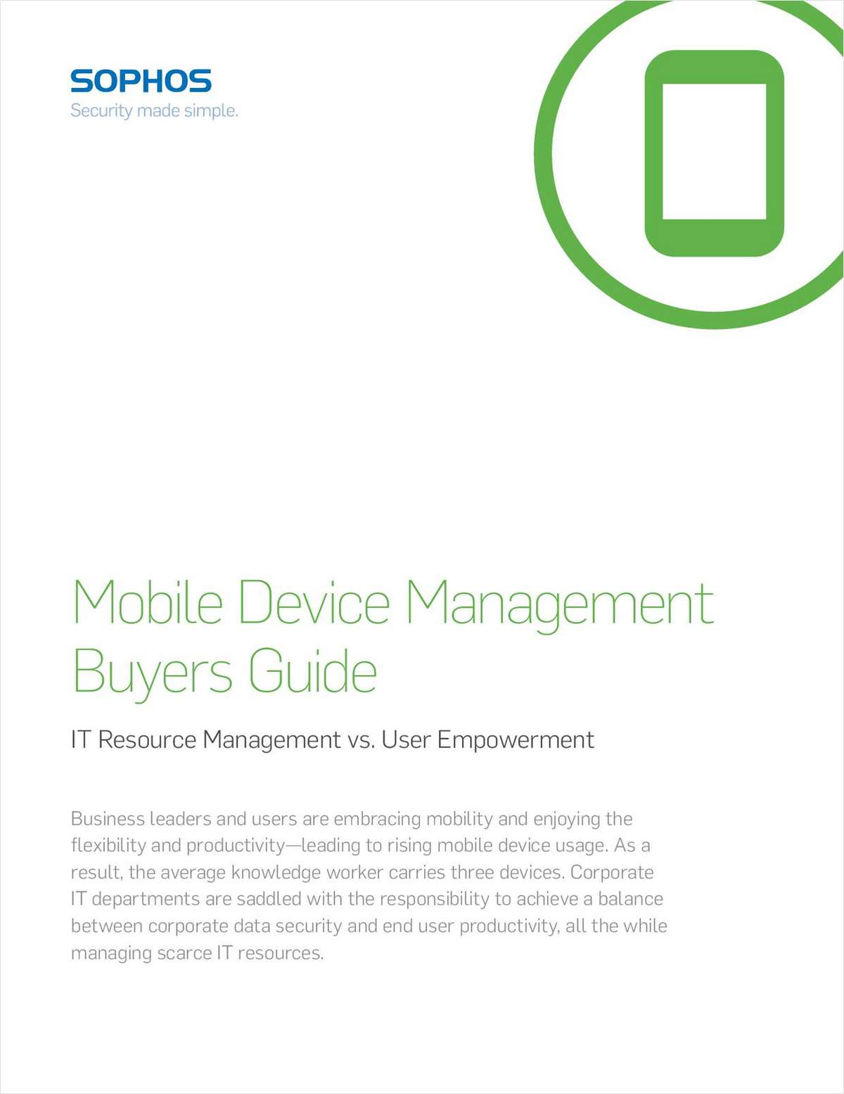 Mobile Device Management Buyers Guide