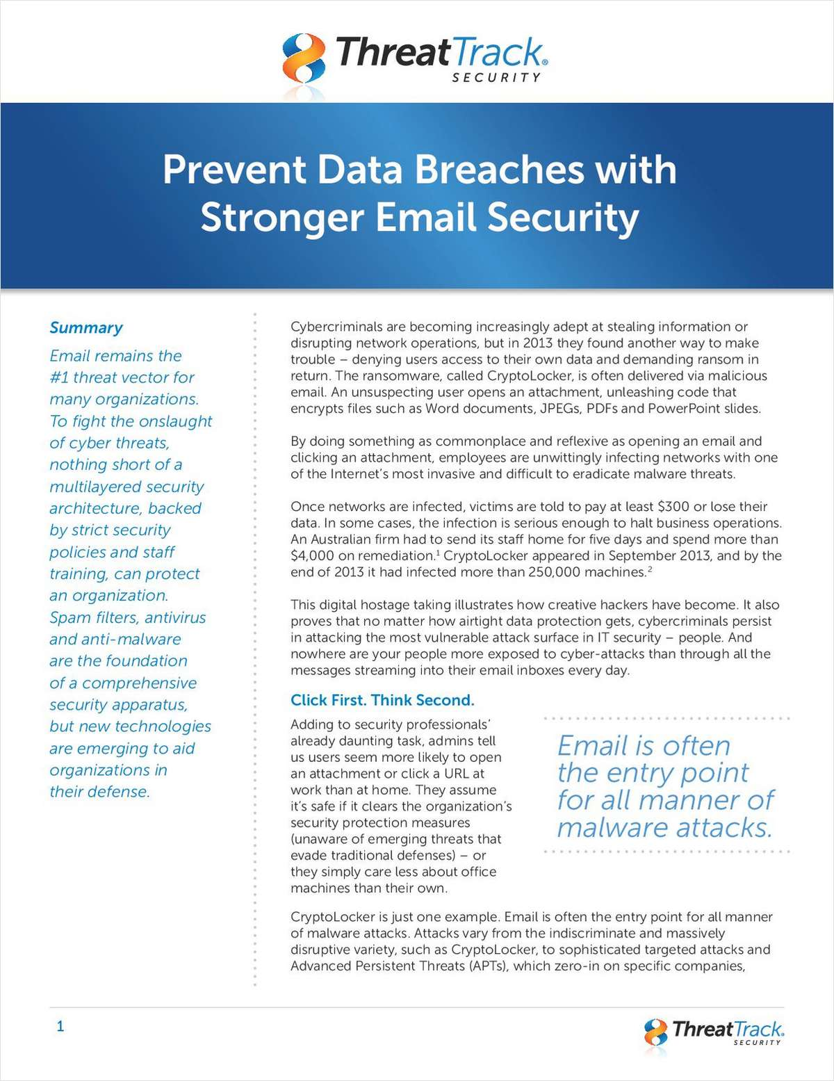 Prevent Data Breaches with Stronger Email Security