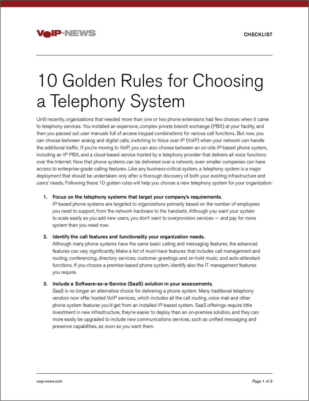 10 Golden Rules for Choosing a Phone System