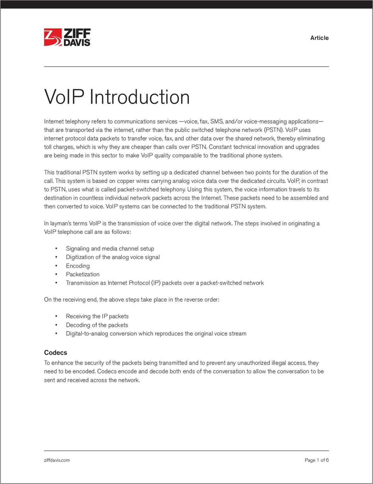 VoIP for Beginners