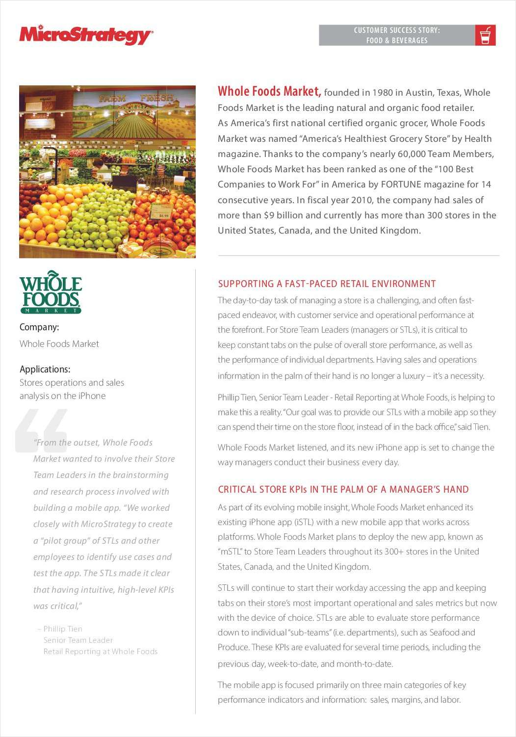 Mobile Success Story: Whole Foods Market