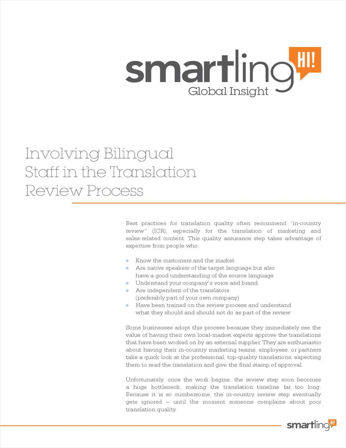 Involving Bilingual Staff in the Translation Review Process