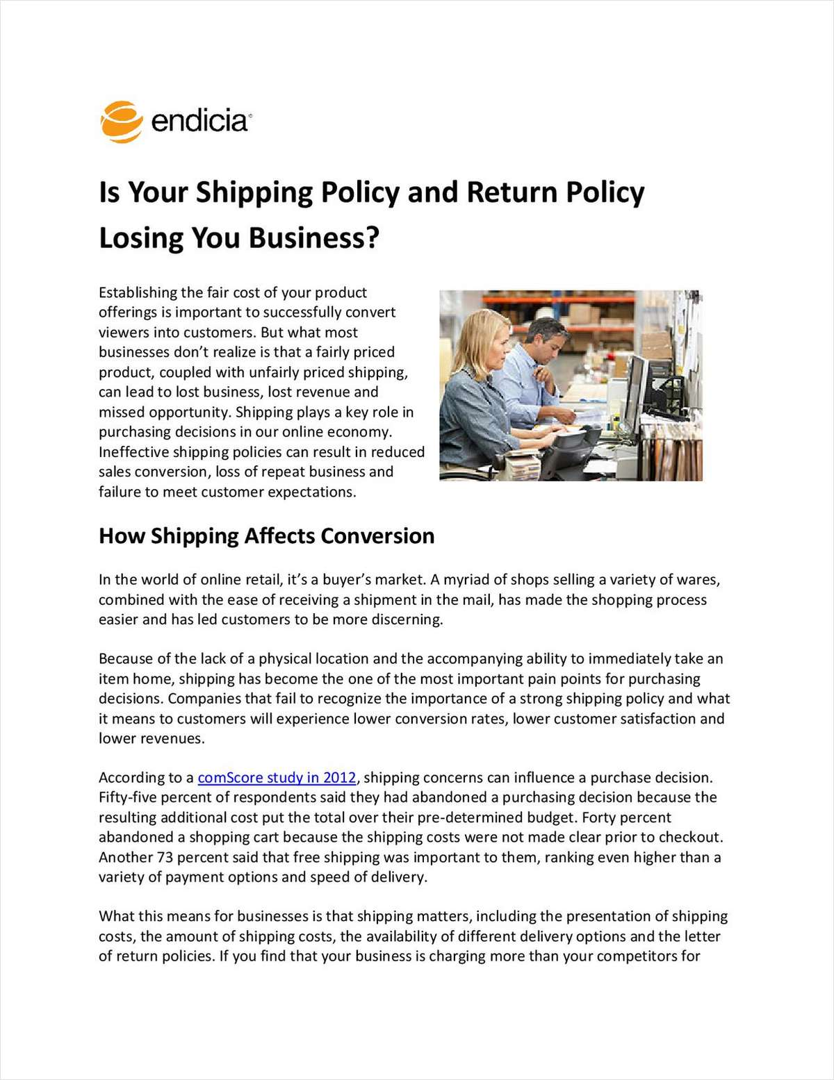 Is Your Shipping and Return Policy Losing You Business?