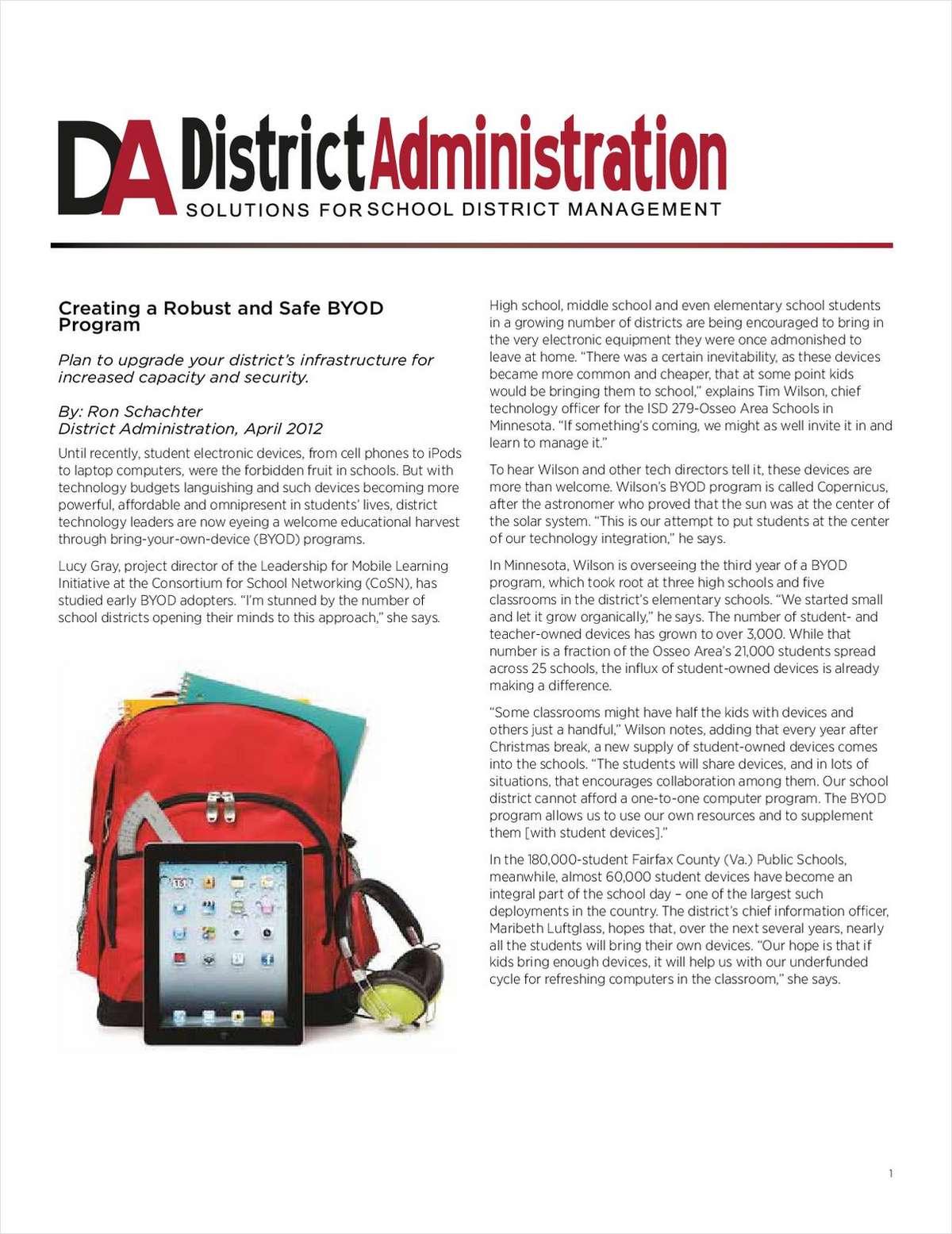 Creating a Safe BYOD Program on a Budget