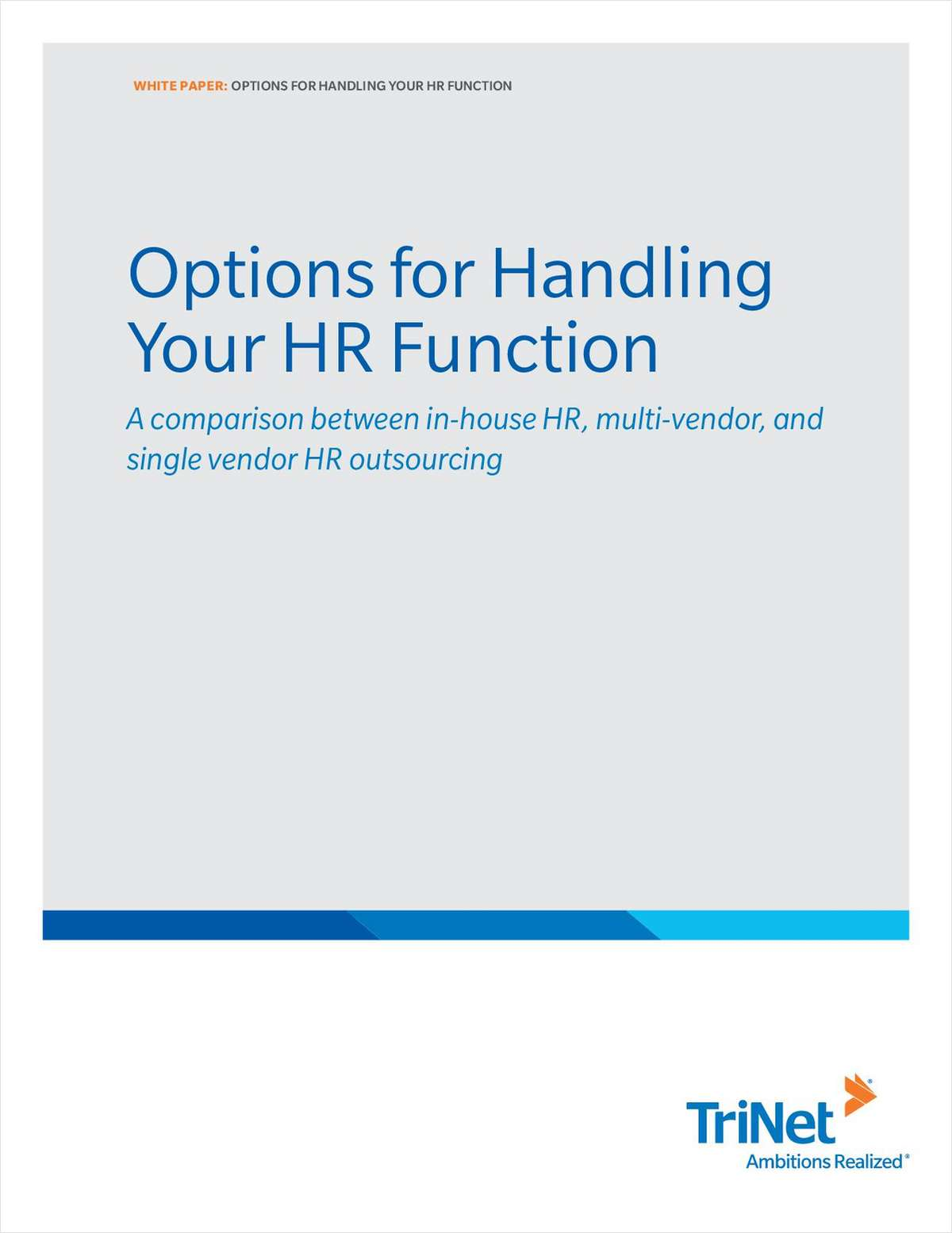 Options for Handling Your HR Functions