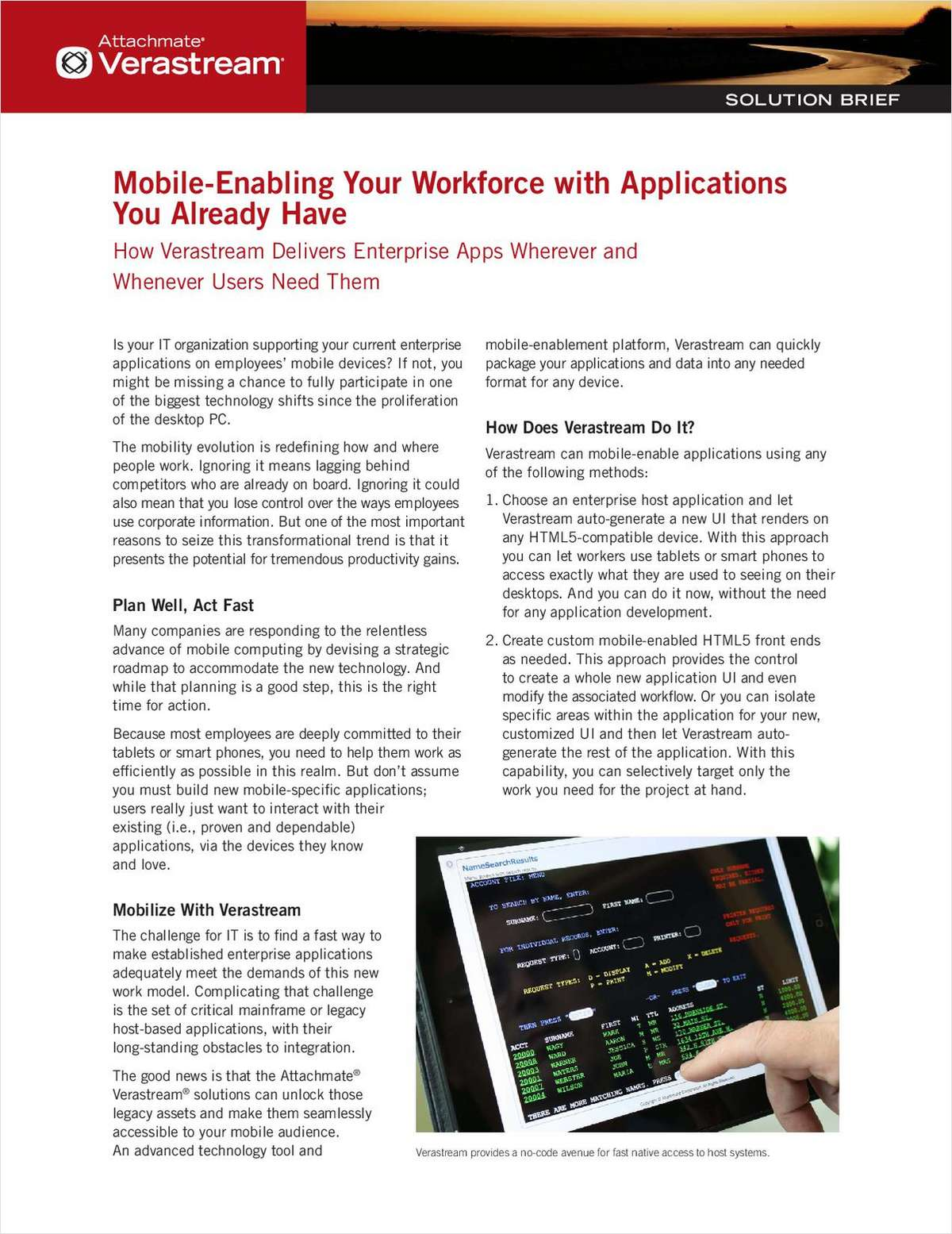 Mobile-Enabling Your Workforce with Apps You Already Have