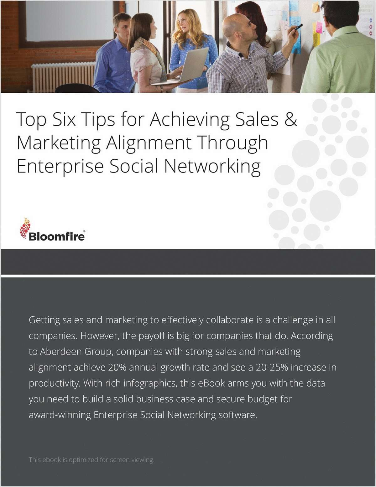 Top Six Tips for Achieving Sales & Marketing Alignment through Enterprise Social Networking