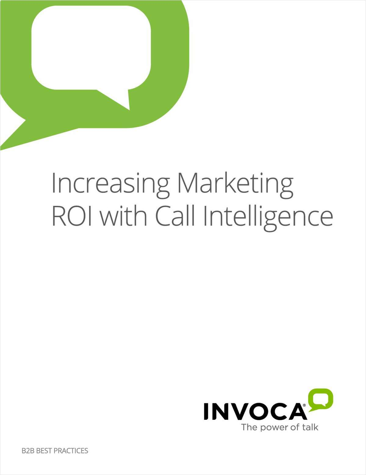 B2B Guide: Increasing Marketing ROI with Call Intelligence
