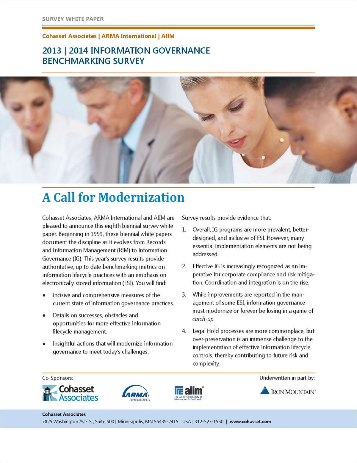 Information Governance Benchmark Survey Report