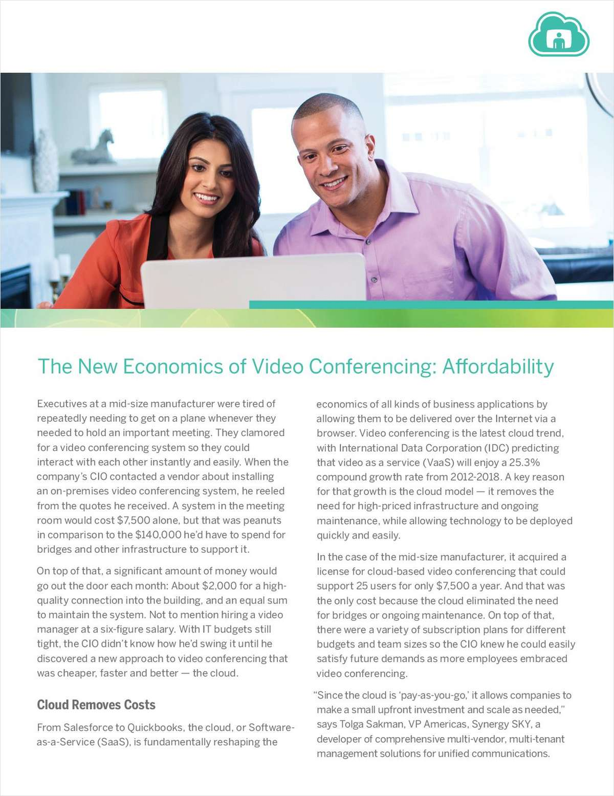 The New Economics of Video Conferencing: Affordability