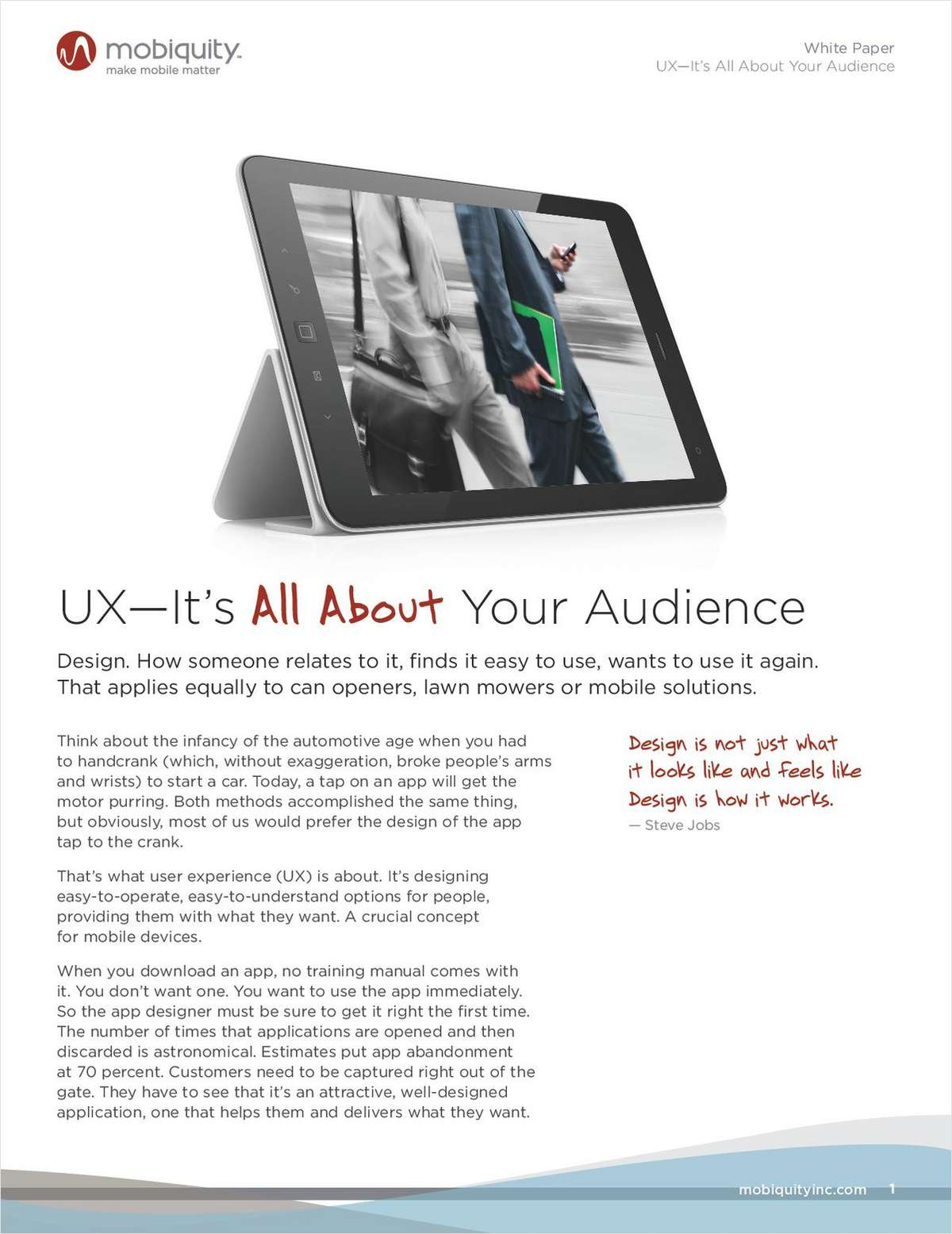 Great Mobile User Experience: It's All About Your Audience